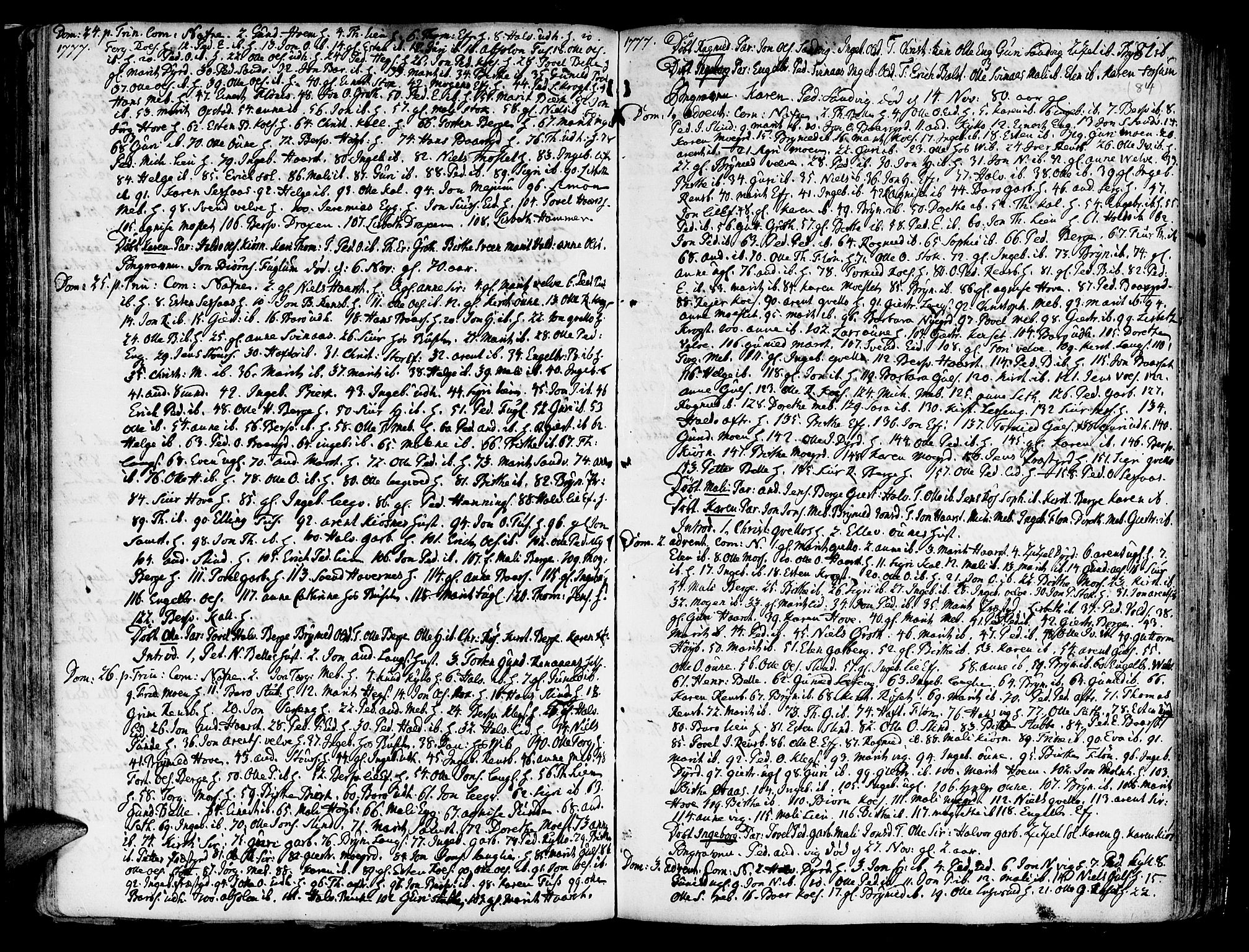 SAT, Ministerialprotokoller, klokkerbøker og fødselsregistre - Sør-Trøndelag, 695/L1138: Ministerialbok nr. 695A02 /1, 1757-1801, s. 84