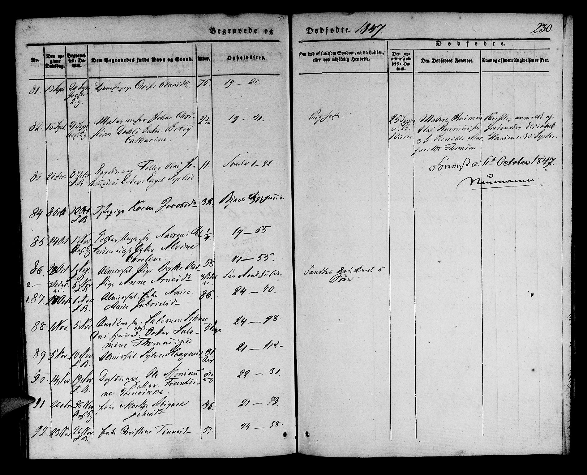 SAB, Korskirken Sokneprestembete, H/Haa/L0043: Ministerialbok nr. E 1, 1834-1848, s. 230