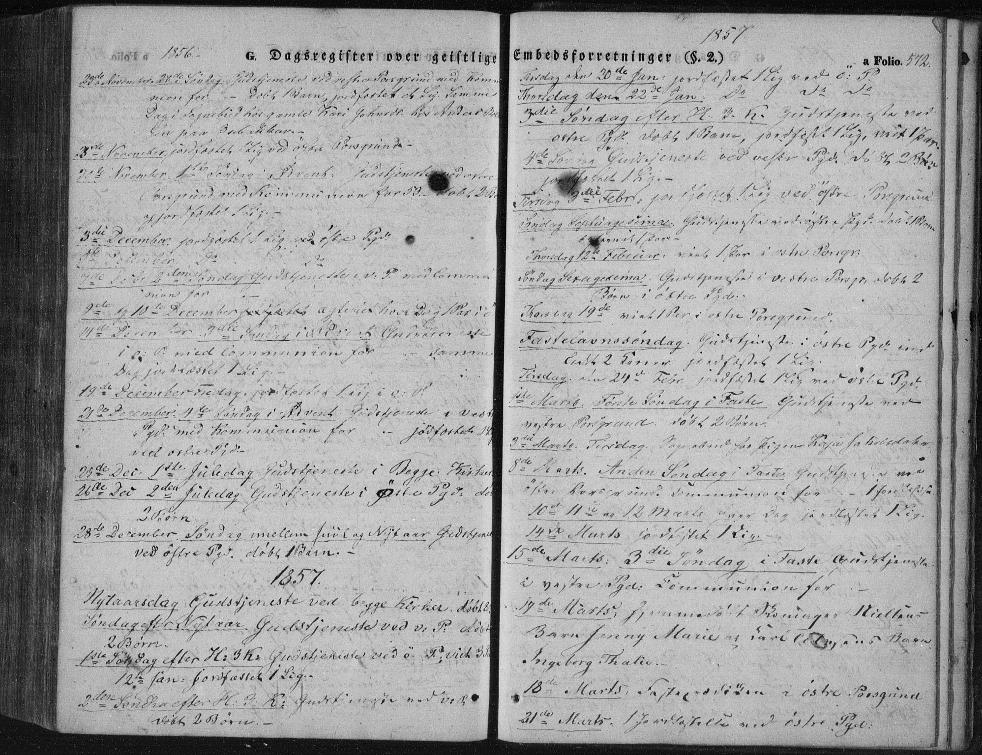 SAKO, Porsgrunn kirkebøker , F/Fa/L0006: Ministerialbok nr. 6, 1841-1857, s. 572
