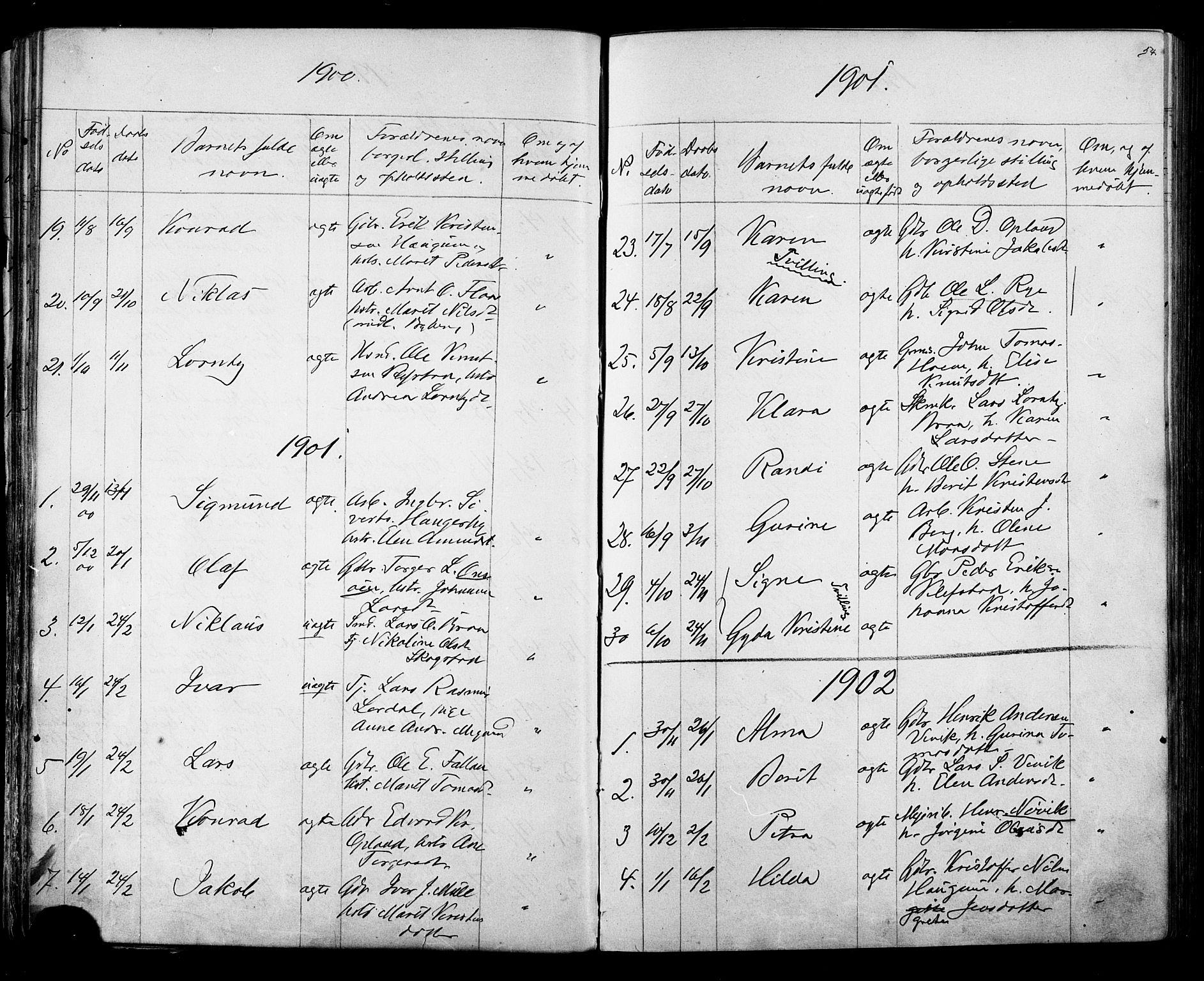 SAT, Ministerialprotokoller, klokkerbøker og fødselsregistre - Sør-Trøndelag, 612/L0387: Klokkerbok nr. 612C03, 1874-1908, s. 54