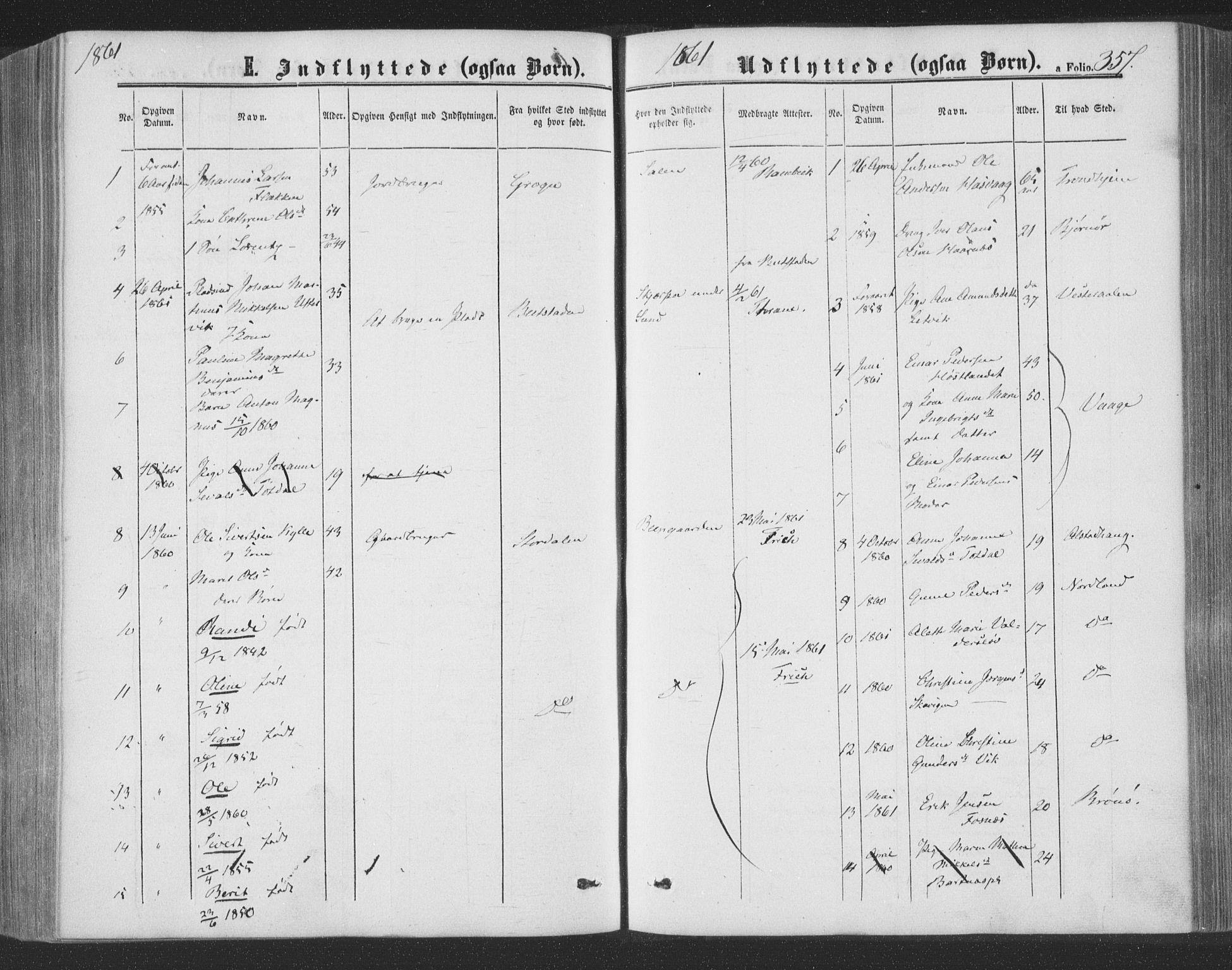 SAT, Ministerialprotokoller, klokkerbøker og fødselsregistre - Nord-Trøndelag, 773/L0615: Ministerialbok nr. 773A06, 1857-1870, s. 357