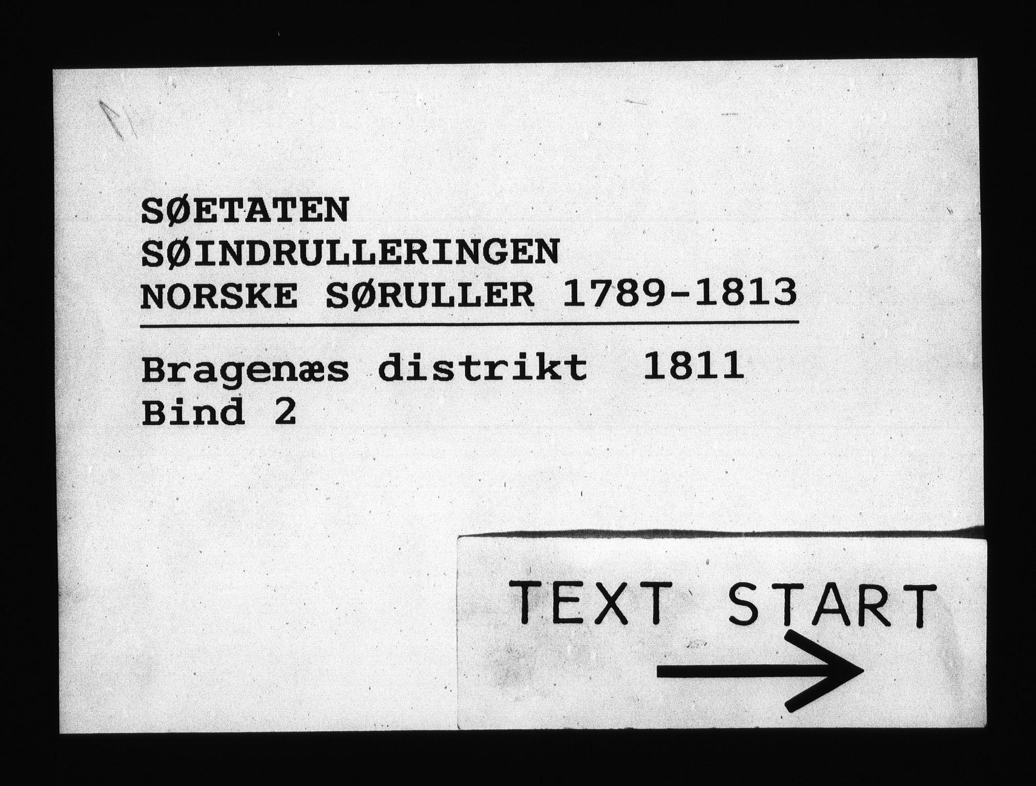 RA, Sjøetaten, F/L0161: Bragernes distrikt, bind 2, 1811