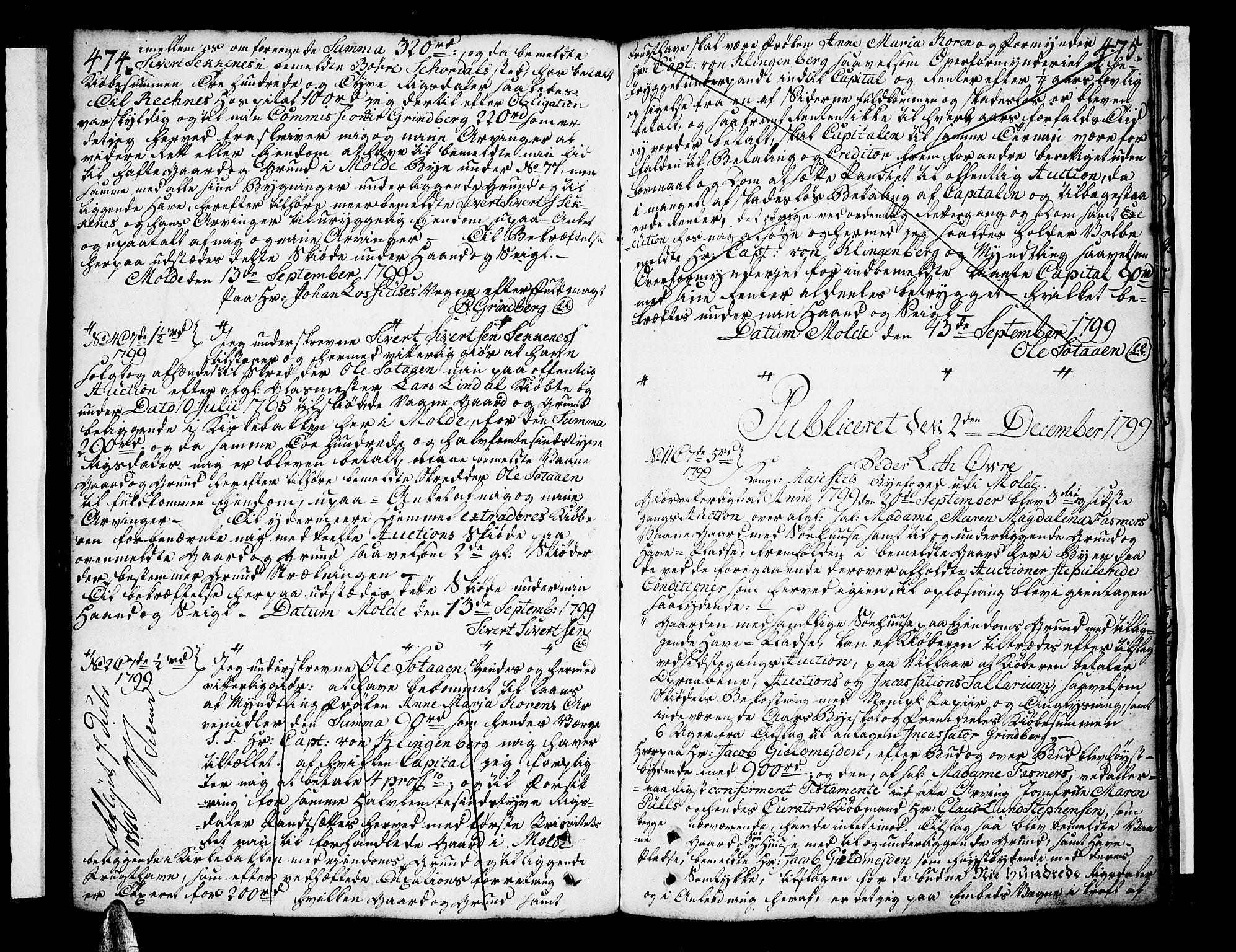 SAT, Molde byfogd, 2C/L0001: Pantebok nr. 1, 1748-1823, s. 474-475
