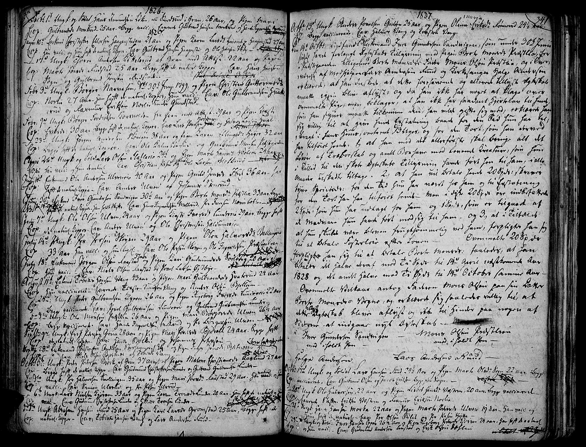 SAH, Jevnaker prestekontor, Ministerialbok nr. 4, 1800-1861, s. 340-341