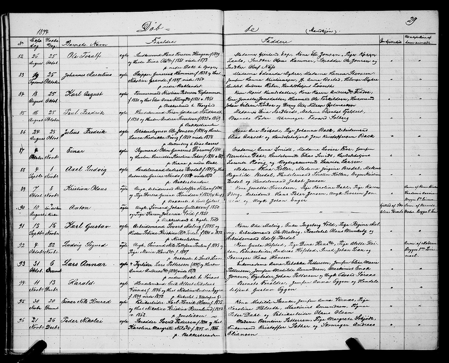 SAT, Ministerialprotokoller, klokkerbøker og fødselsregistre - Sør-Trøndelag, 604/L0220: Klokkerbok nr. 604C03, 1870-1885, s. 29