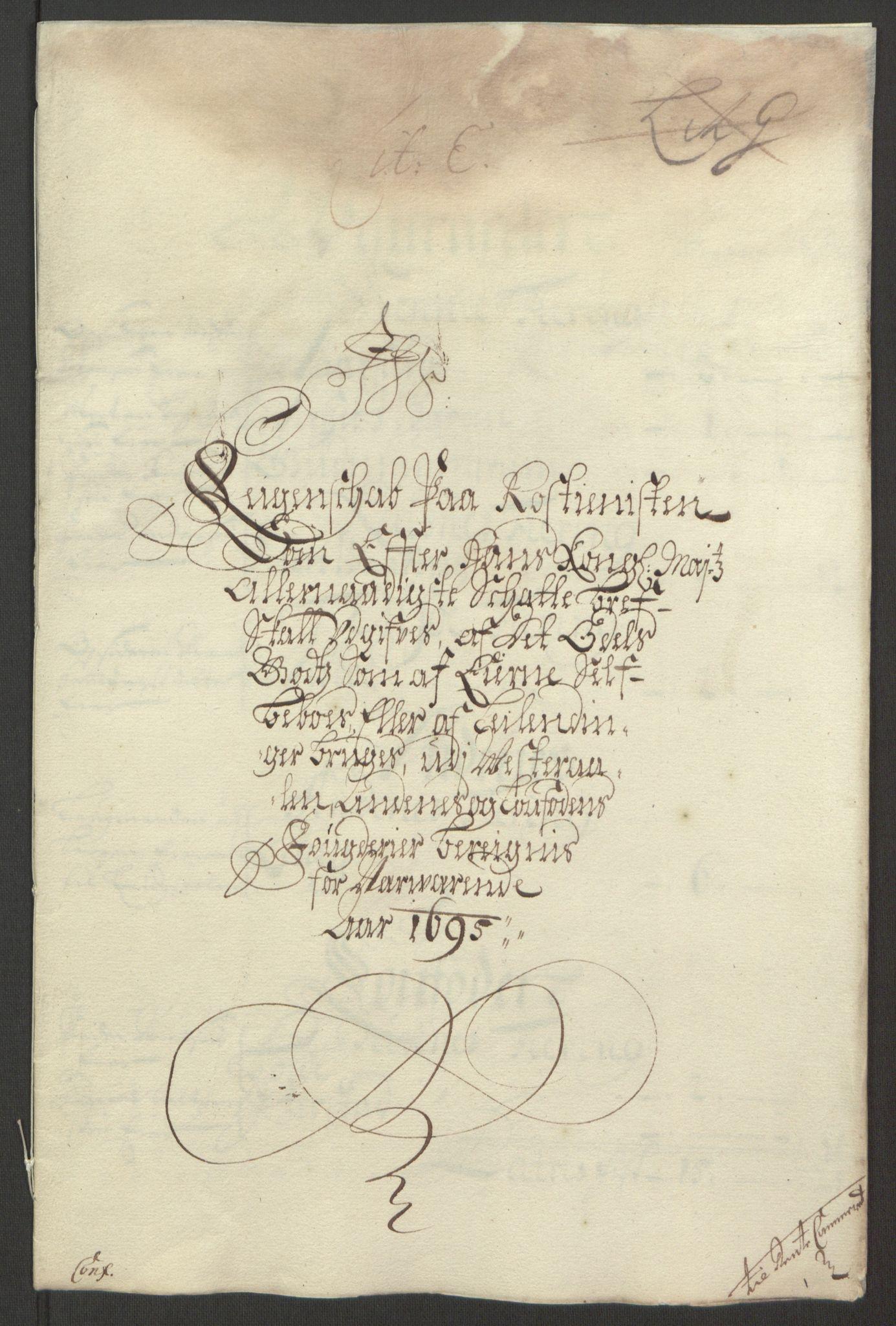 RA, Rentekammeret inntil 1814, Reviderte regnskaper, Fogderegnskap, R67/L4677: Fogderegnskap Vesterålen, Andenes og Lofoten, 1694-1695, s. 242