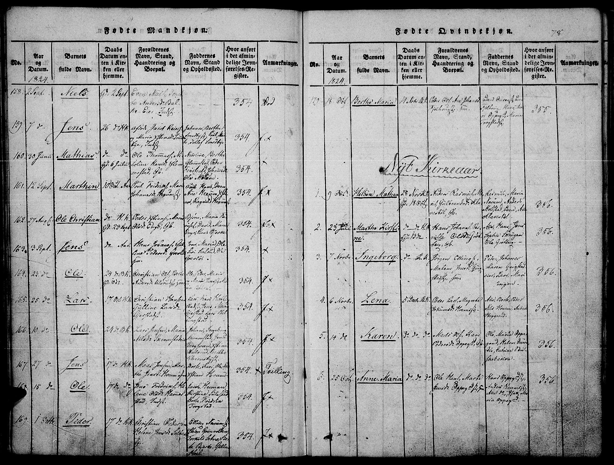 SAH, Toten prestekontor, Ministerialbok nr. 10, 1820-1828, s. 78
