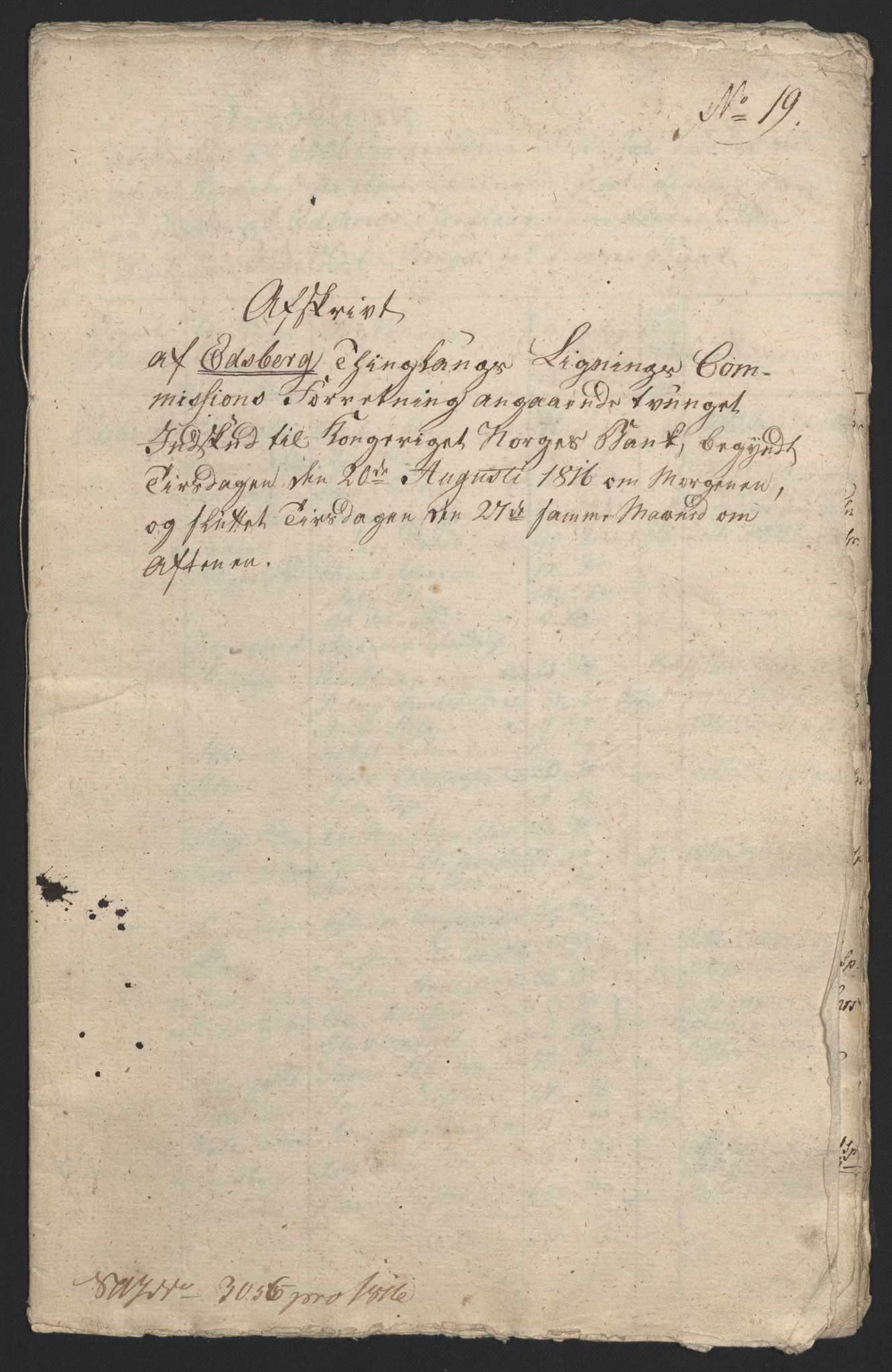 NOBA, Norges Bank/Sølvskatten 1816*, 1816-1817, s. 38