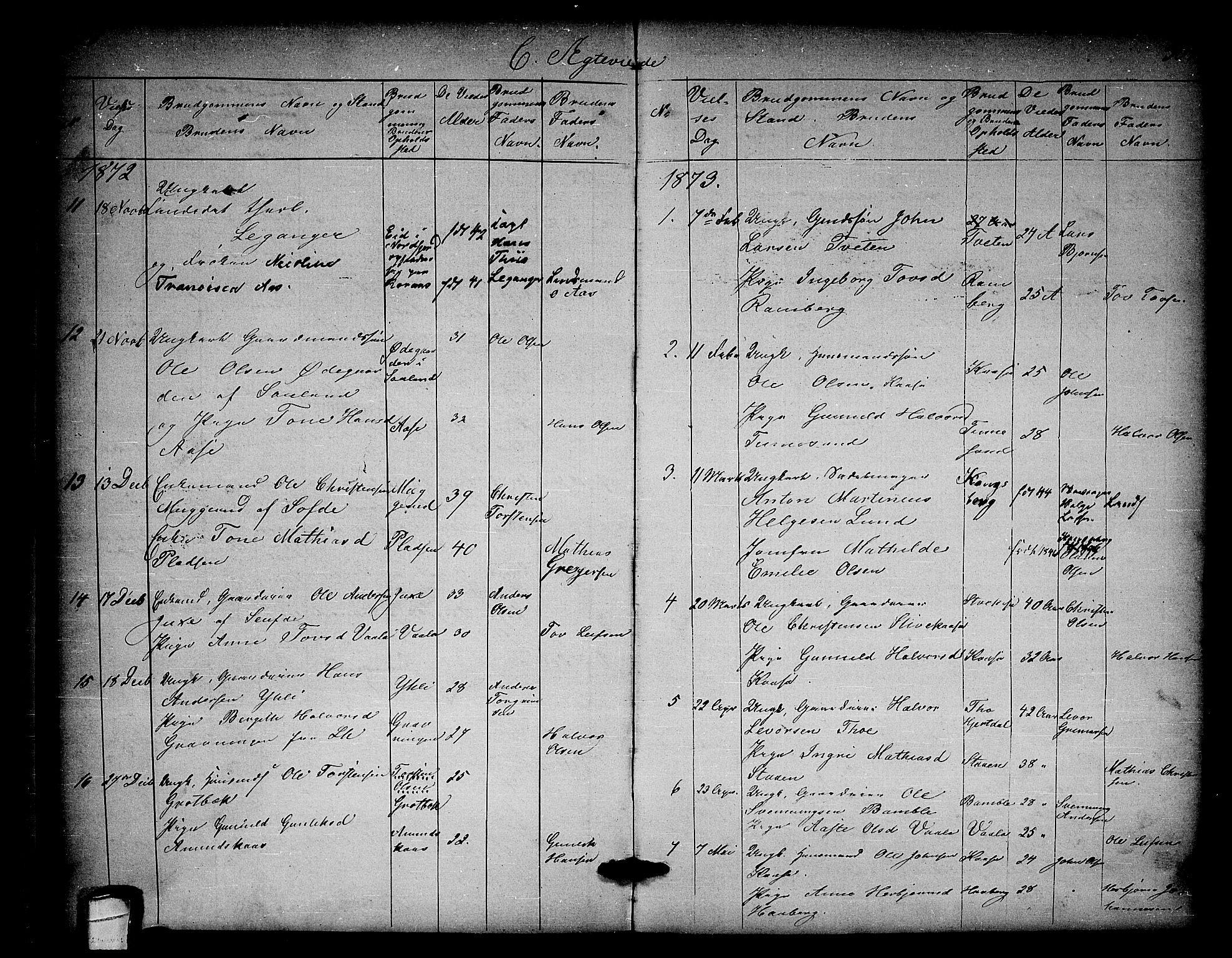 SAKO, Heddal kirkebøker, G/Ga/L0001: Klokkerbok nr. I 1, 1866-1878, s. 308-309