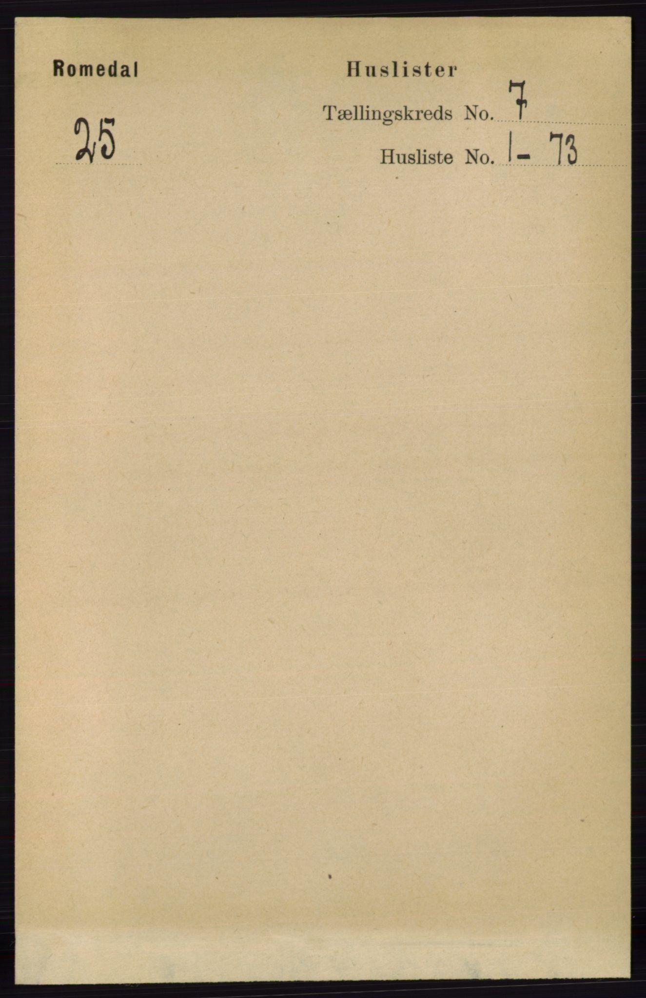 RA, Folketelling 1891 for 0416 Romedal herred, 1891, s. 3480