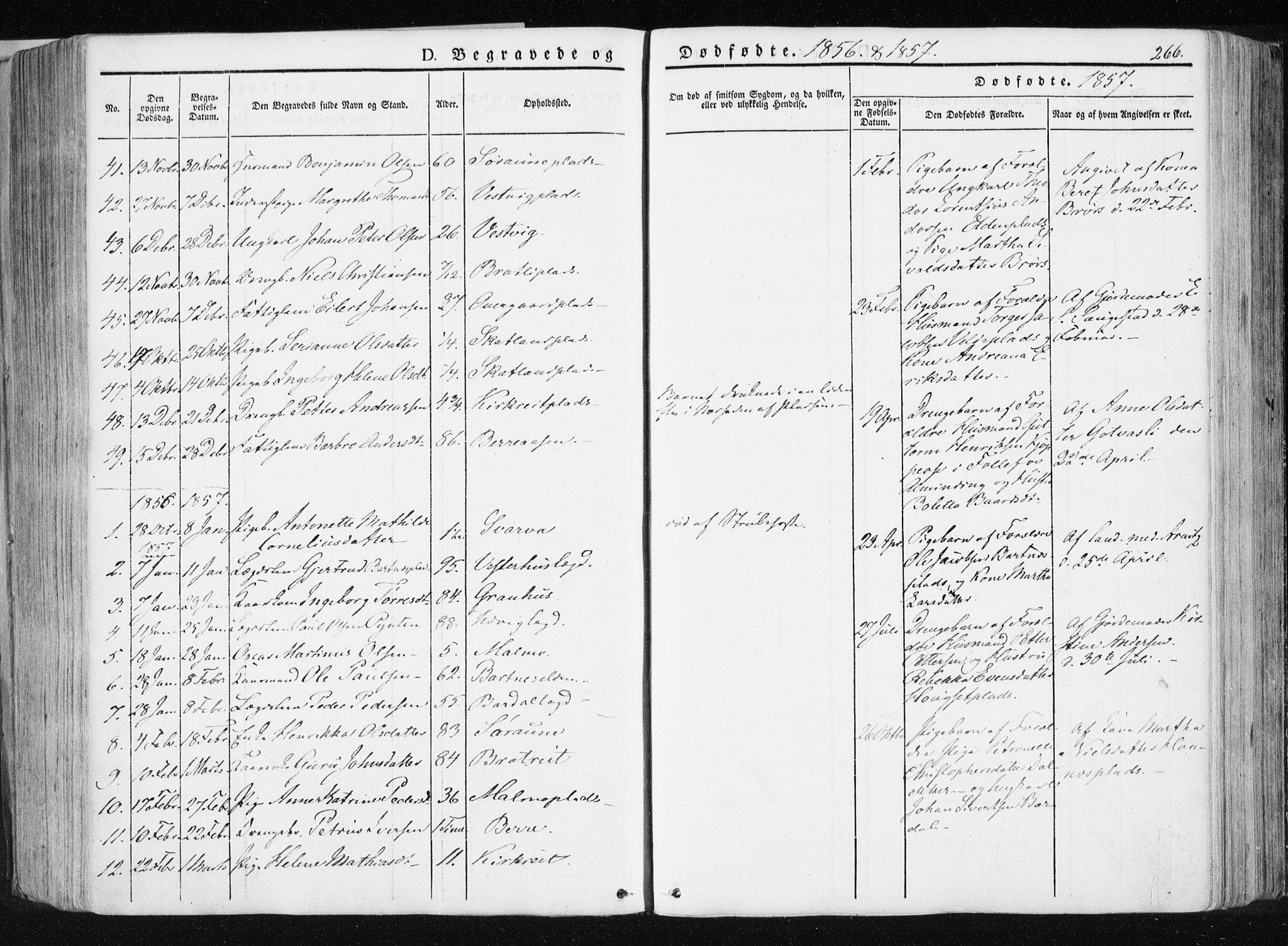SAT, Ministerialprotokoller, klokkerbøker og fødselsregistre - Nord-Trøndelag, 741/L0393: Ministerialbok nr. 741A07, 1849-1863, s. 266