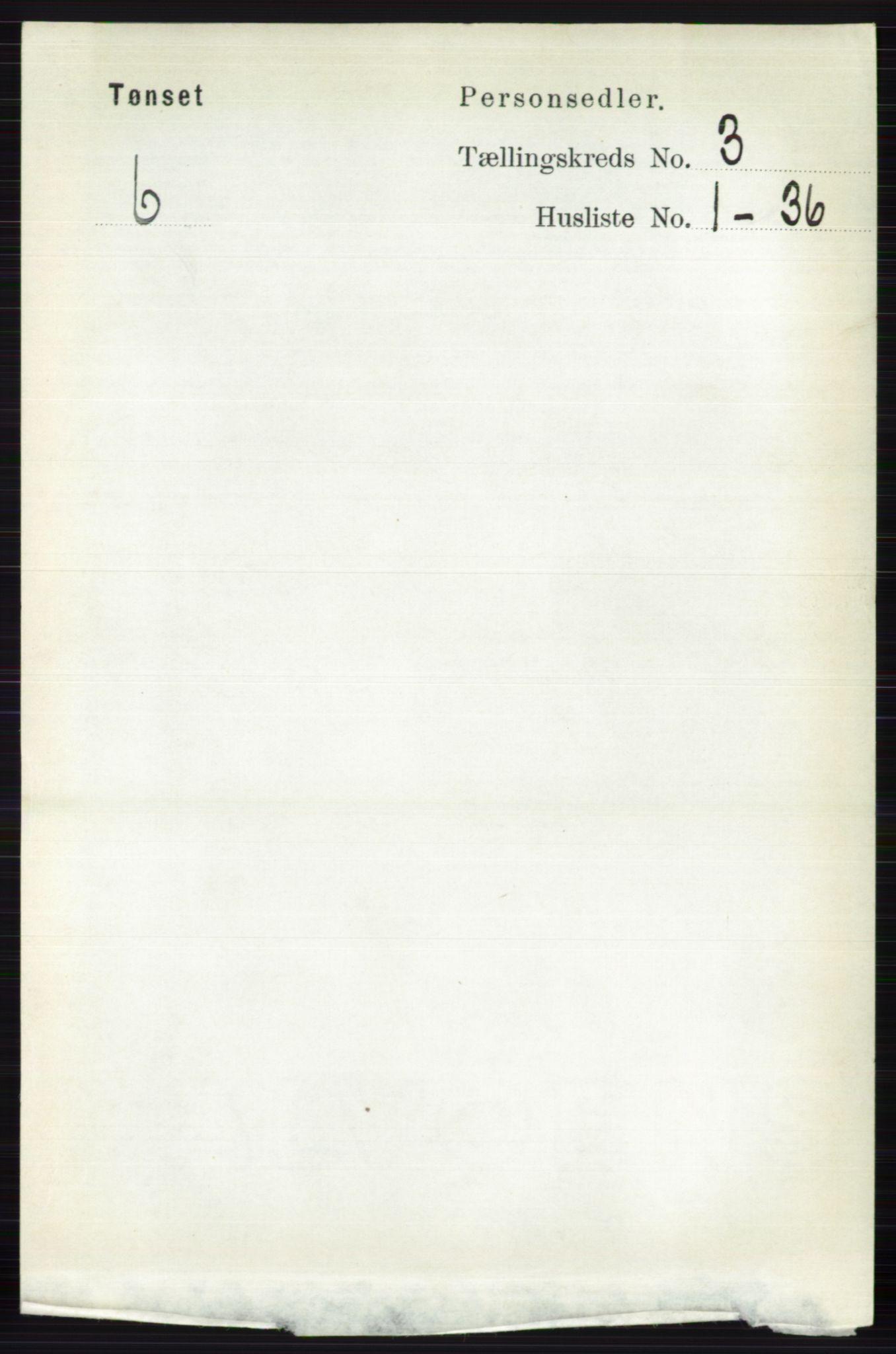 RA, Folketelling 1891 for 0437 Tynset herred, 1891, s. 581
