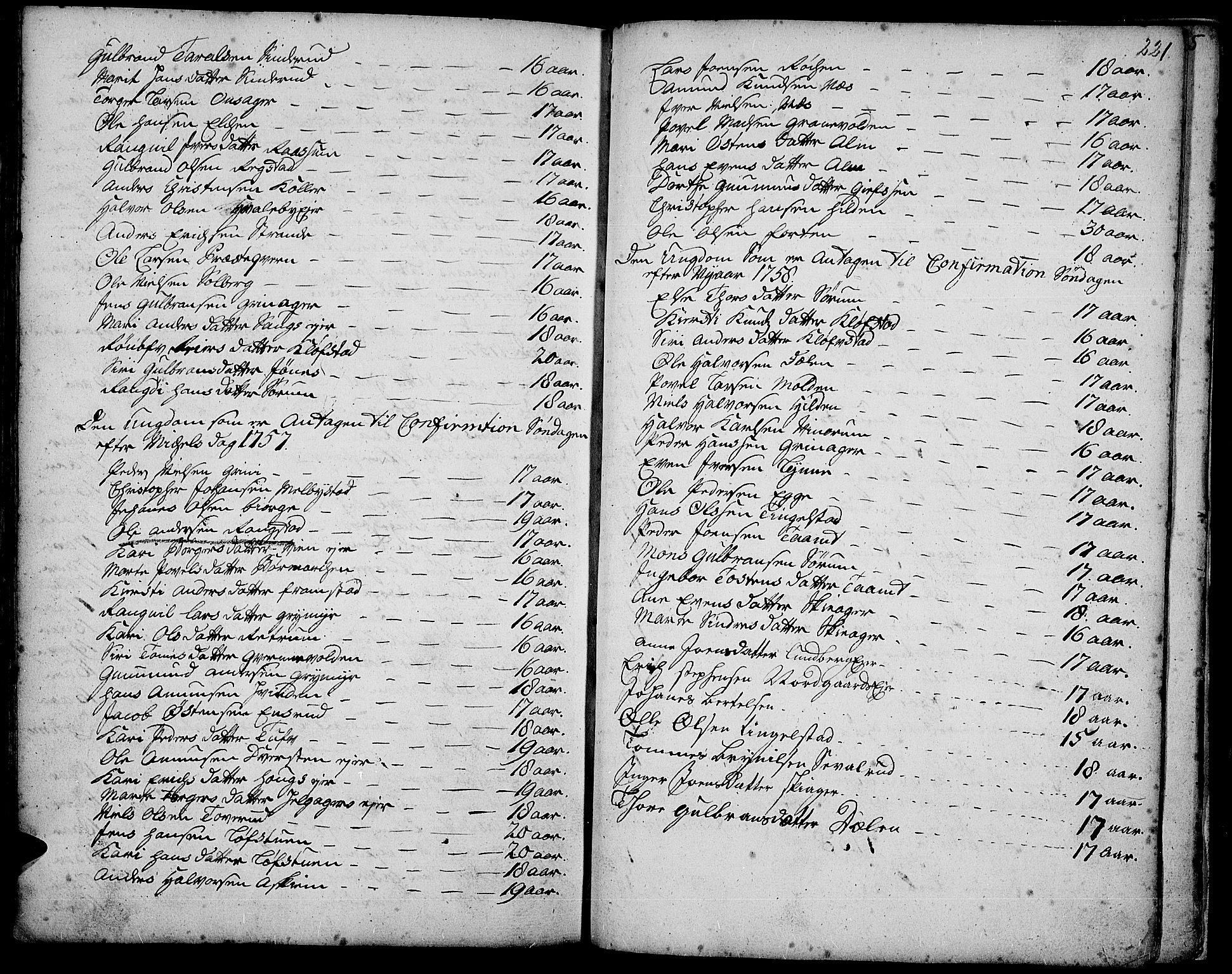 SAH, Gran prestekontor, Ministerialbok nr. 3, 1745-1758, s. 221