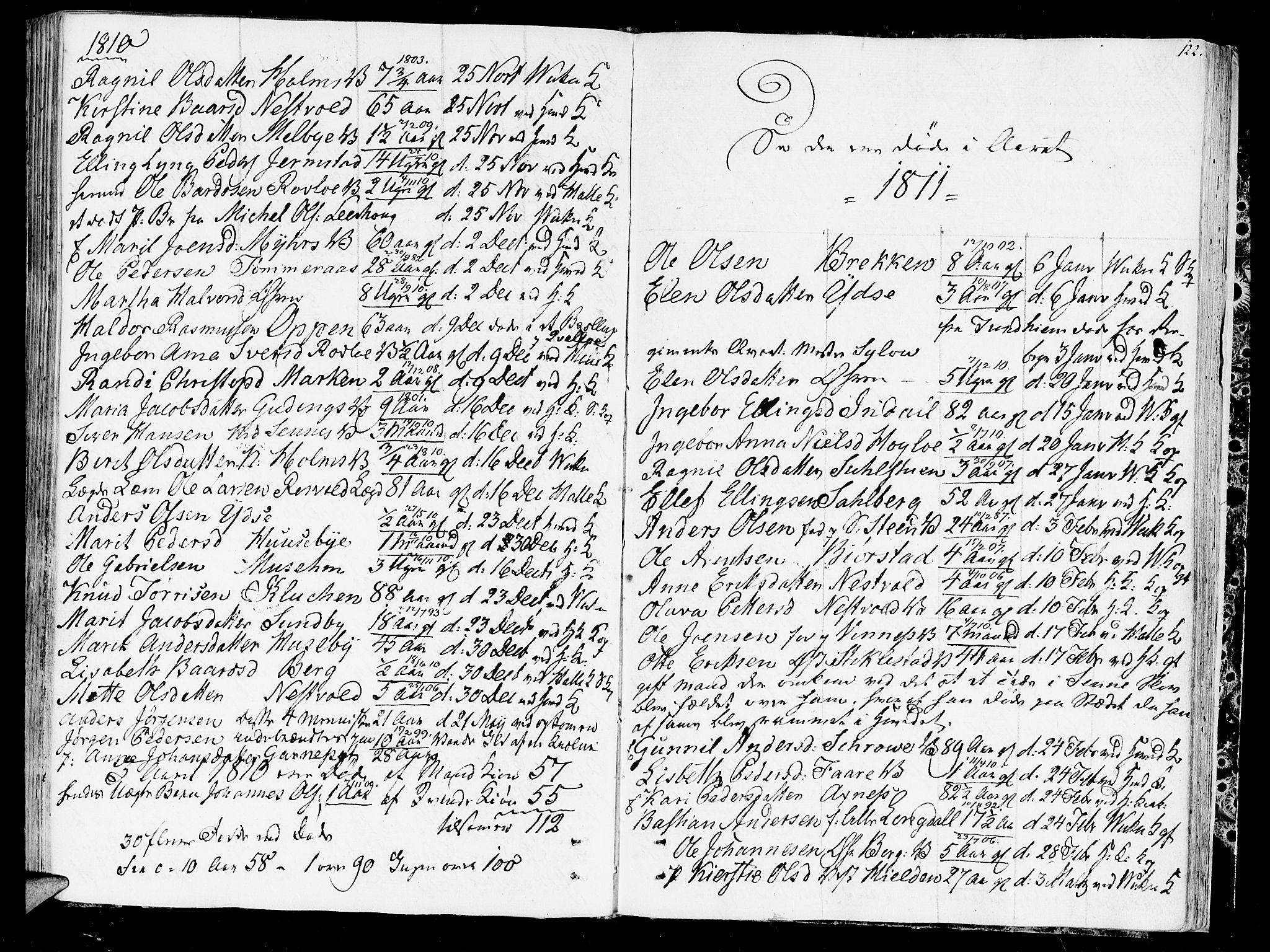 SAT, Ministerialprotokoller, klokkerbøker og fødselsregistre - Nord-Trøndelag, 723/L0233: Ministerialbok nr. 723A04, 1805-1816, s. 122