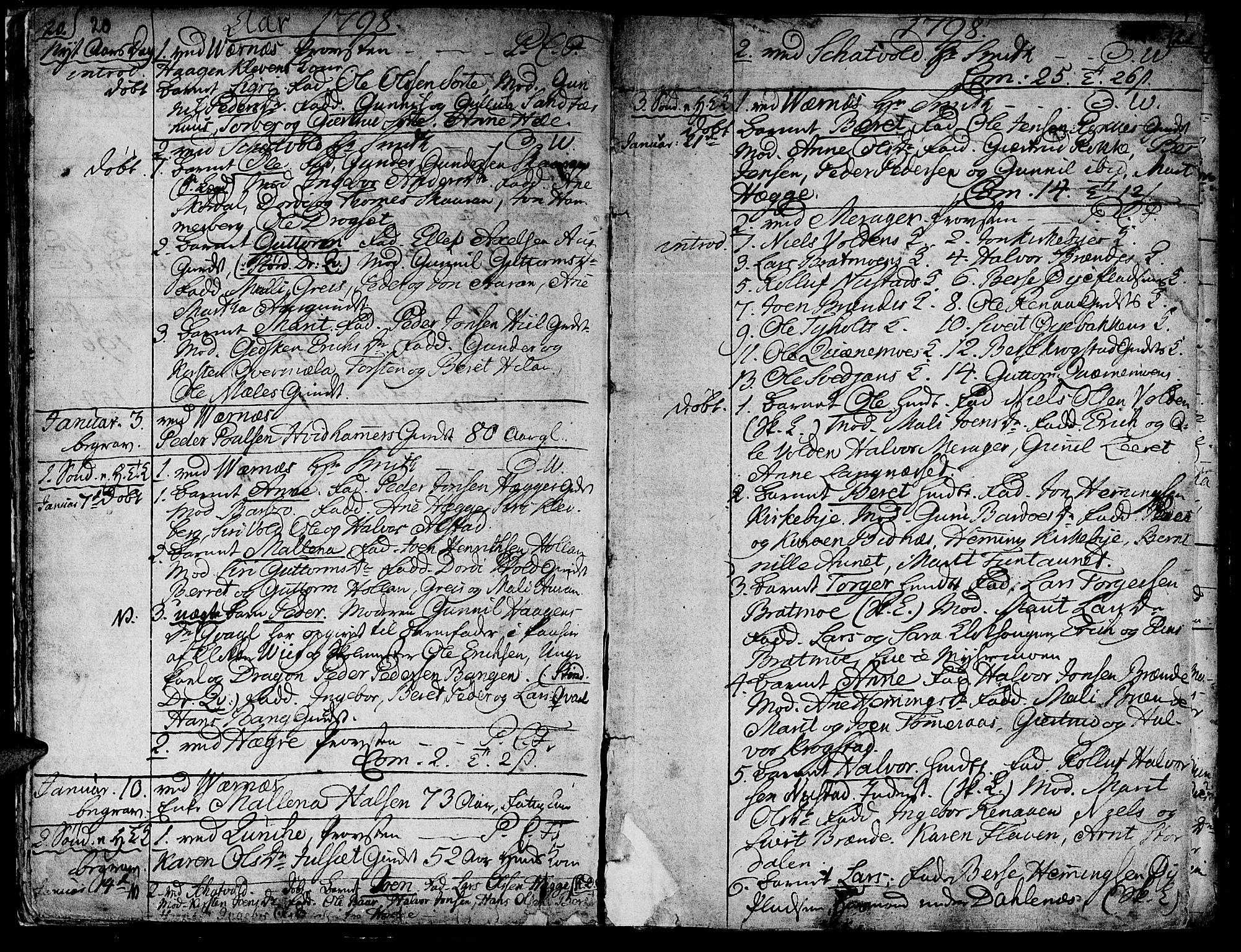 SAT, Ministerialprotokoller, klokkerbøker og fødselsregistre - Nord-Trøndelag, 709/L0060: Ministerialbok nr. 709A07, 1797-1815, s. 20-21