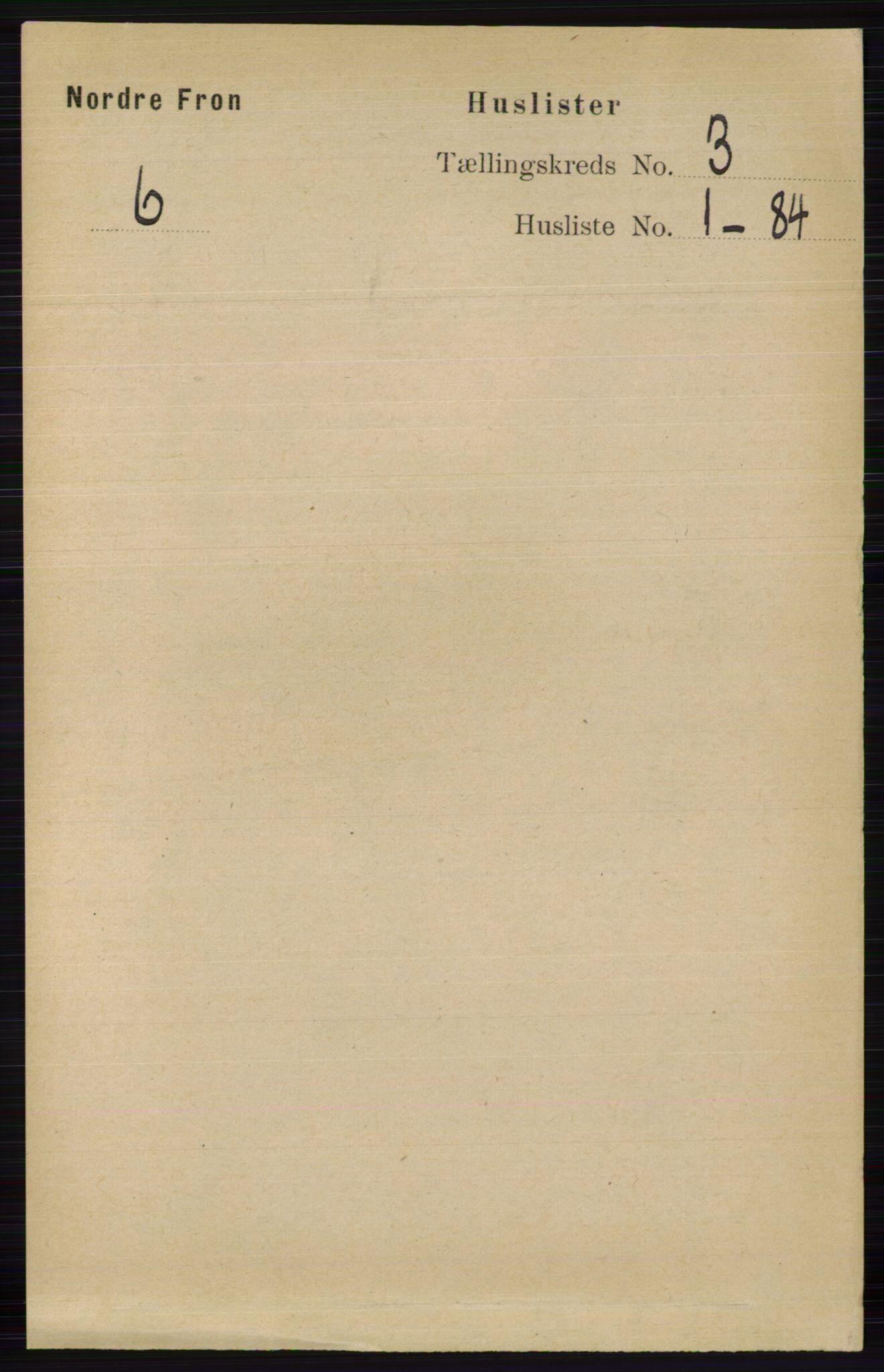 RA, Folketelling 1891 for 0518 Nord-Fron herred, 1891, s. 756