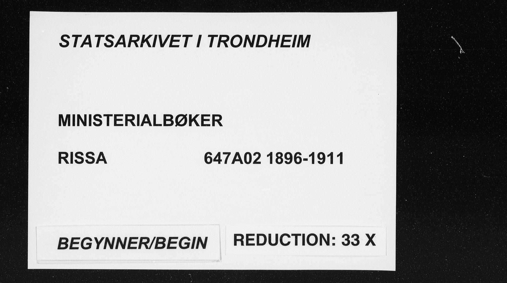 SAT, Ministerialprotokoller, klokkerbøker og fødselsregistre - Sør-Trøndelag, 647/L0635: Ministerialbok nr. 647A02, 1896-1911