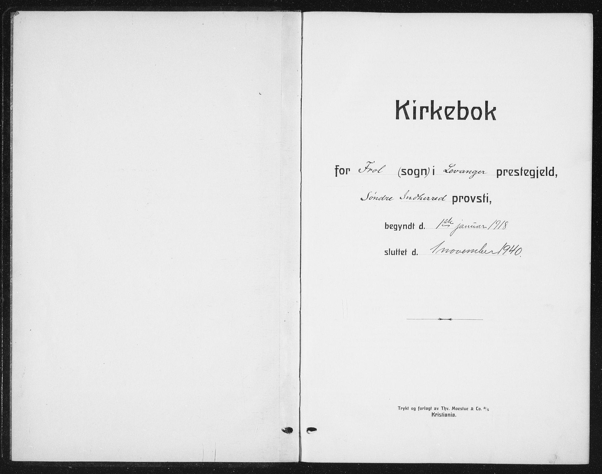 SAT, Ministerialprotokoller, klokkerbøker og fødselsregistre - Nord-Trøndelag, 721/L0209: Klokkerbok nr. 721C02, 1918-1940