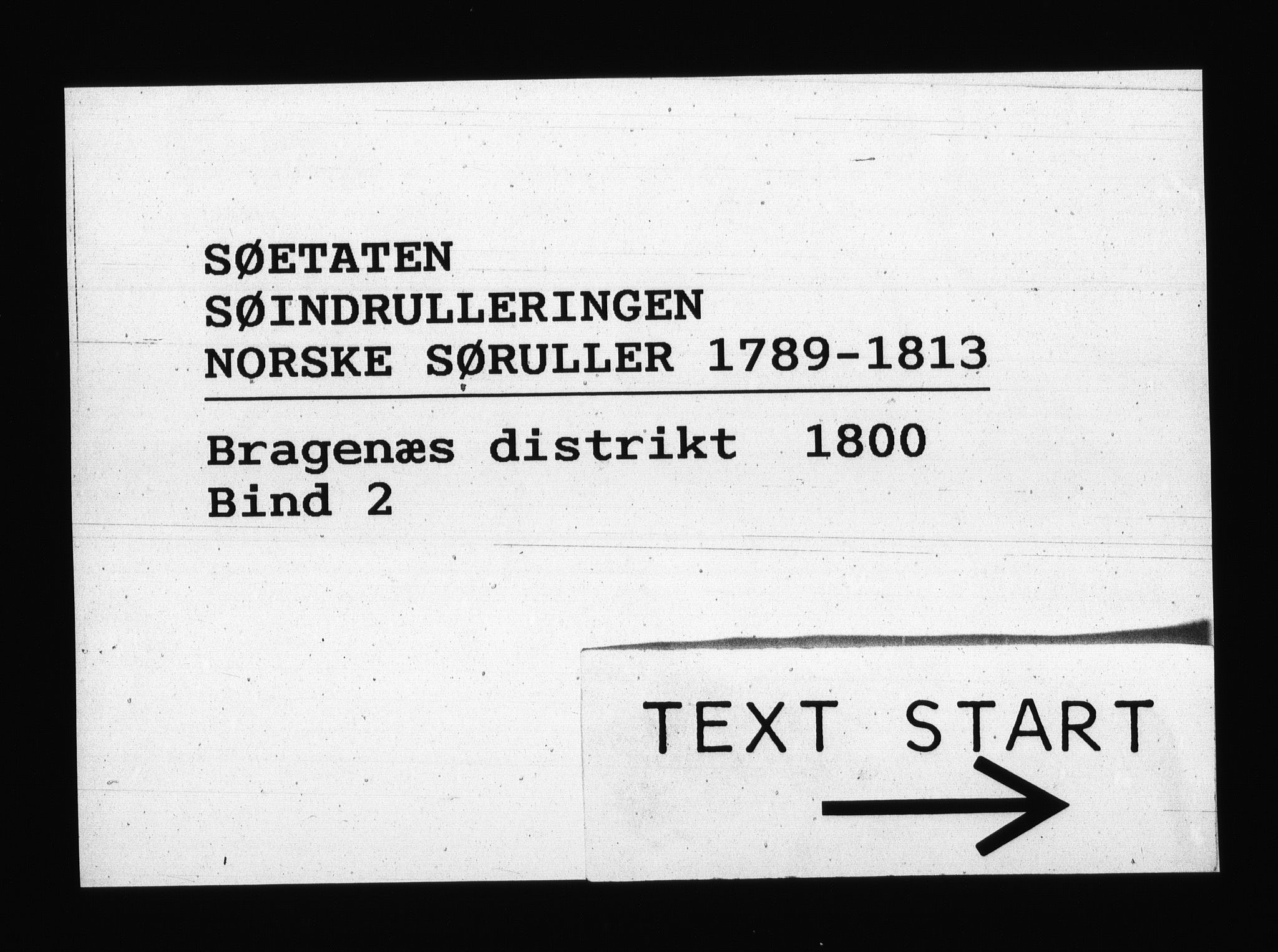 RA, Sjøetaten, F/L0129: Bragernes distrikt, bind 2, 1800