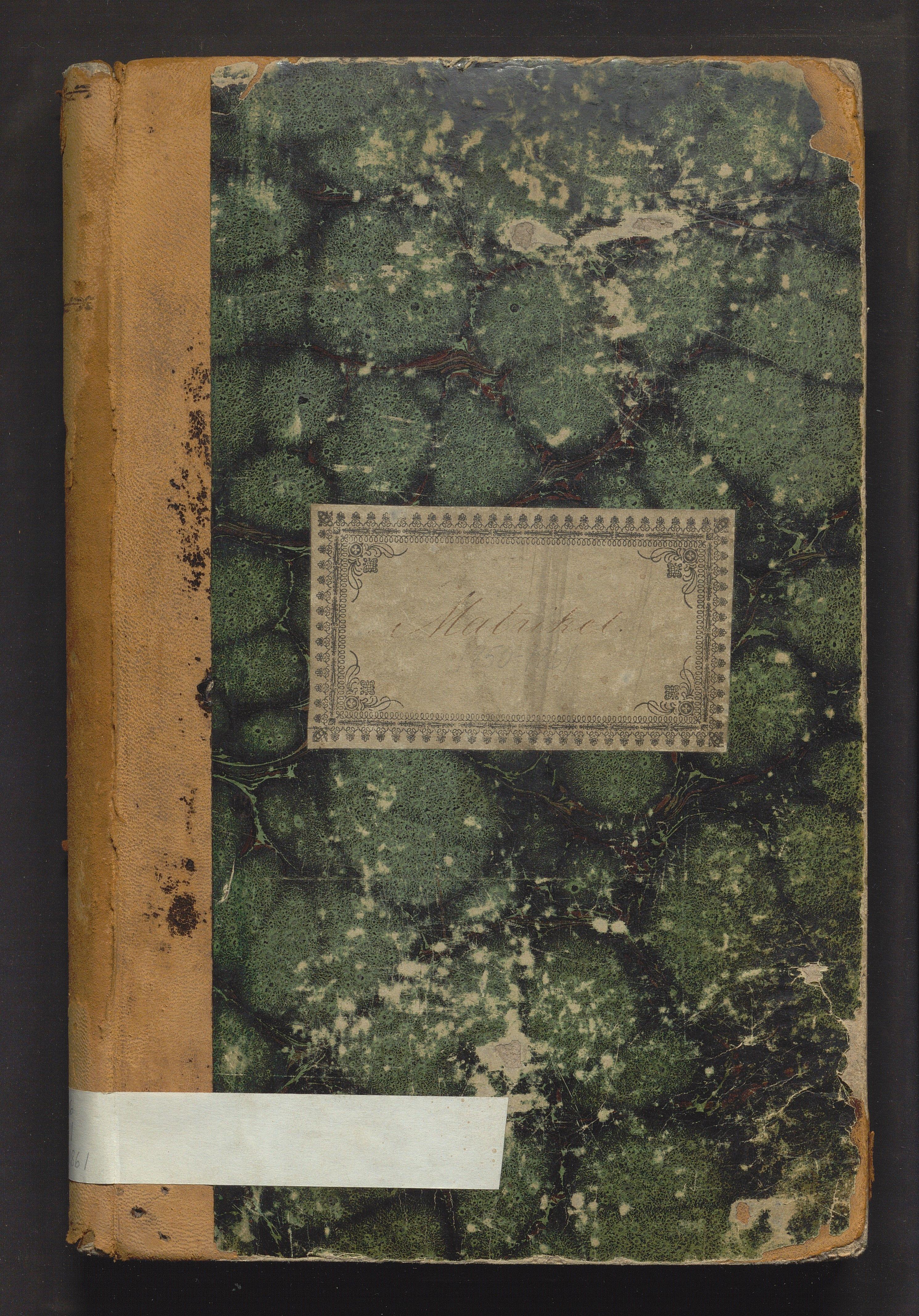 BBA, Tanks skole, H/Ha/L0001: Matrikkel, 1850-1861