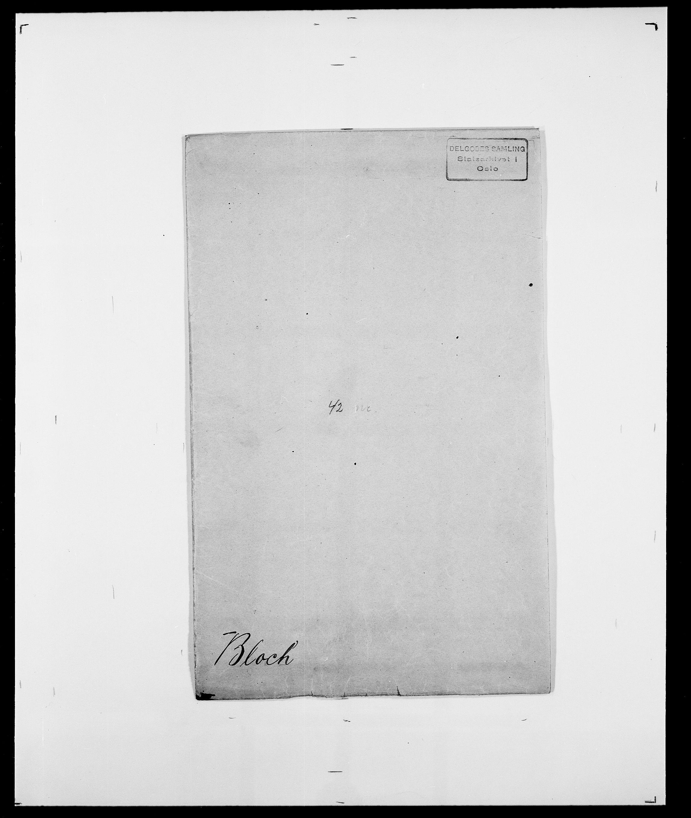 SAO, Delgobe, Charles Antoine - samling, D/Da/L0004: Bergendahl - Blære, s. 649