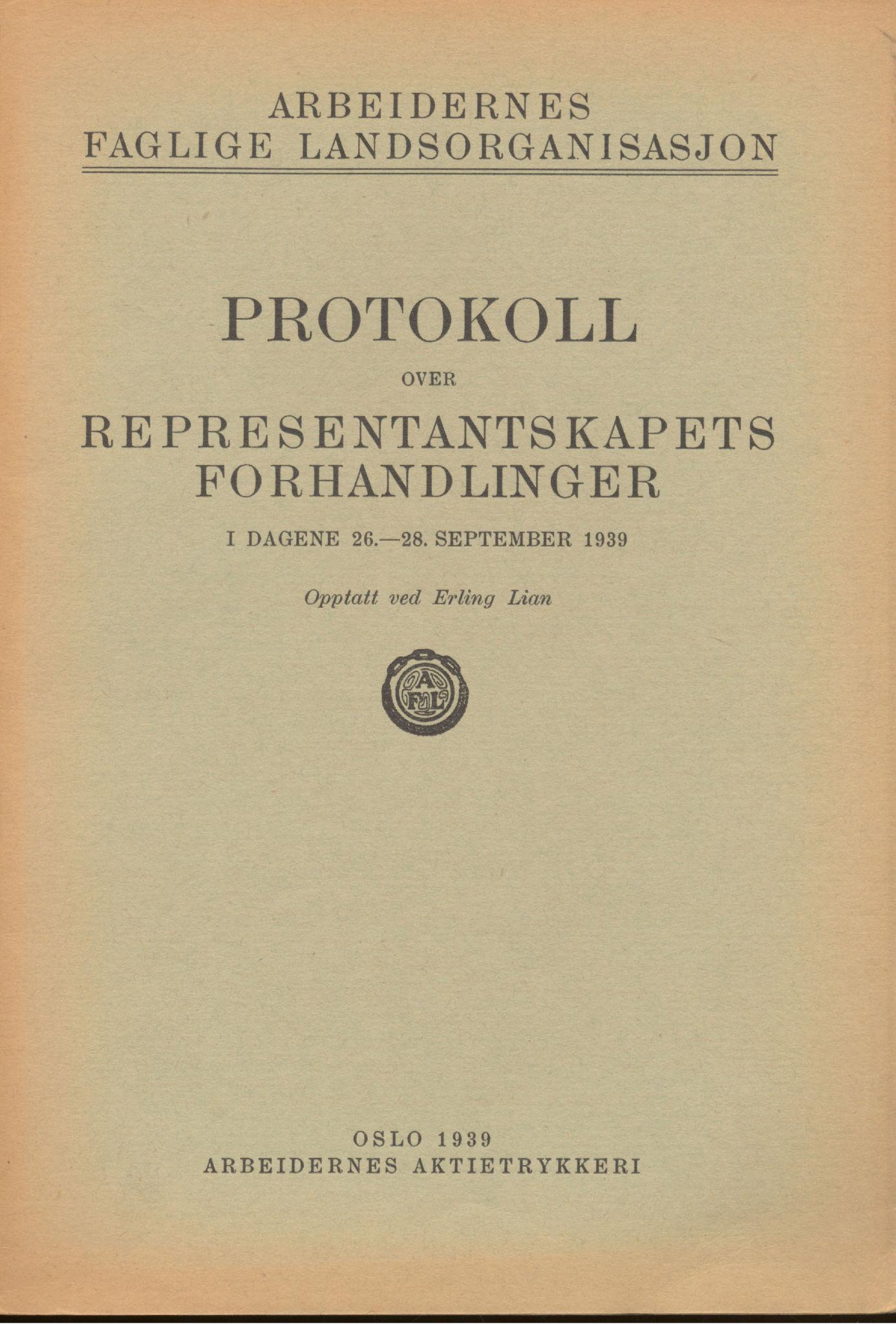 AAB, Landsorganisasjonen i Norge, 1911-1953, s. 292