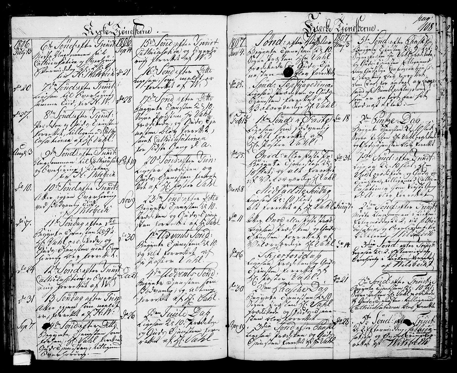 SAKO, Langesund kirkebøker, G/Ga/L0002: Klokkerbok nr. 2, 1801-1815, s. 108