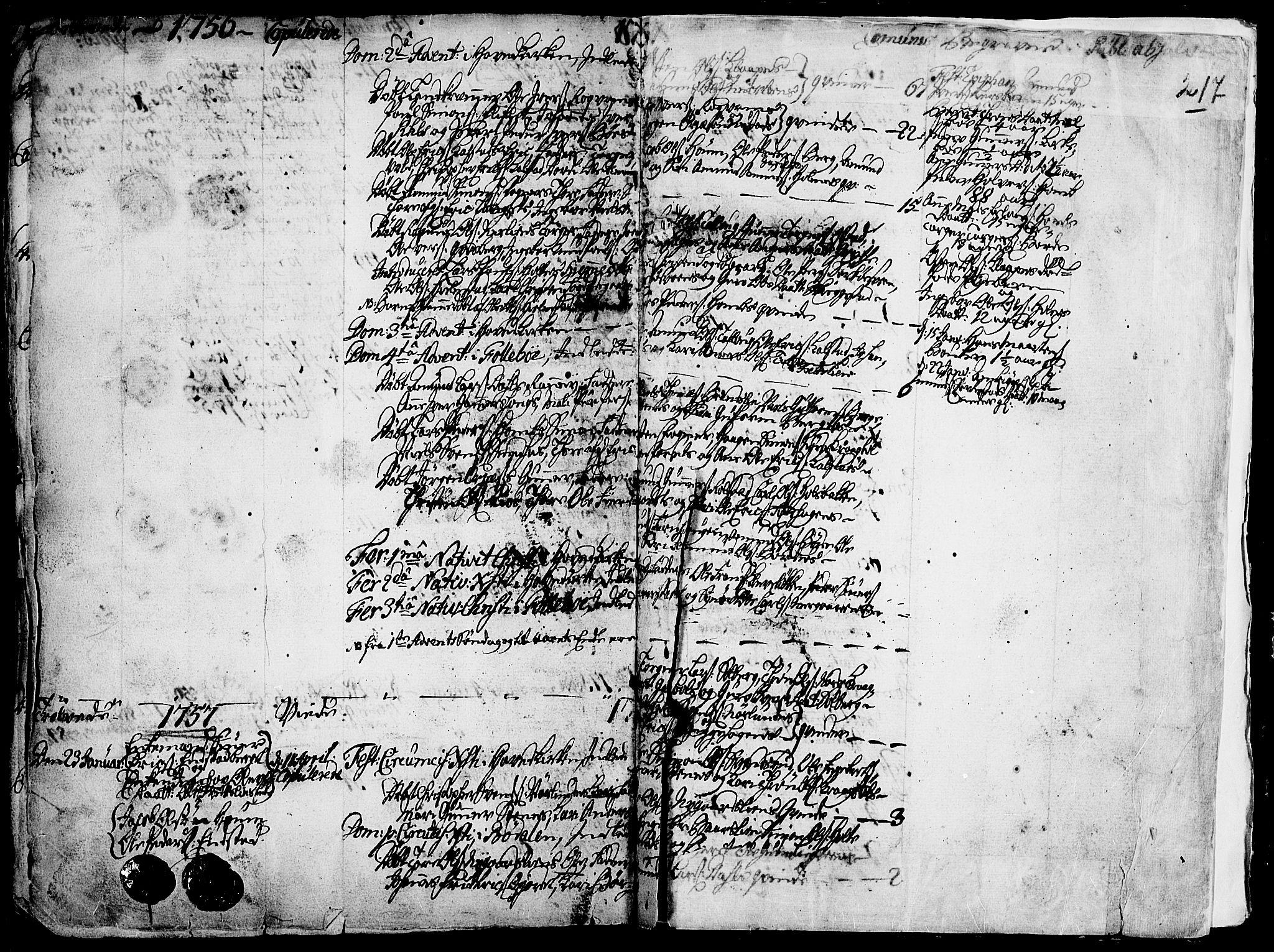 SAH, Gausdal prestekontor, Ministerialbok nr. 2, 1729-1757, s. 217