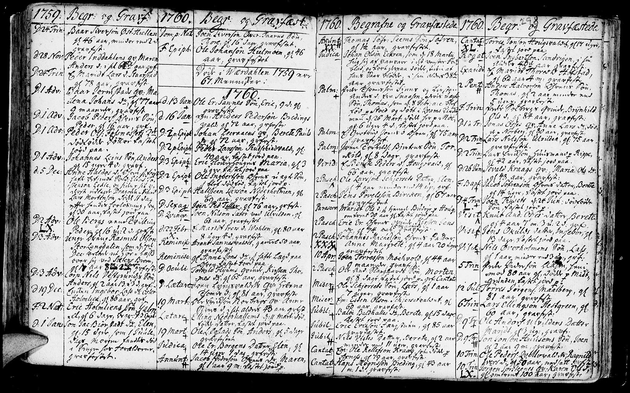 SAT, Ministerialprotokoller, klokkerbøker og fødselsregistre - Nord-Trøndelag, 723/L0231: Ministerialbok nr. 723A02, 1748-1780, s. 298