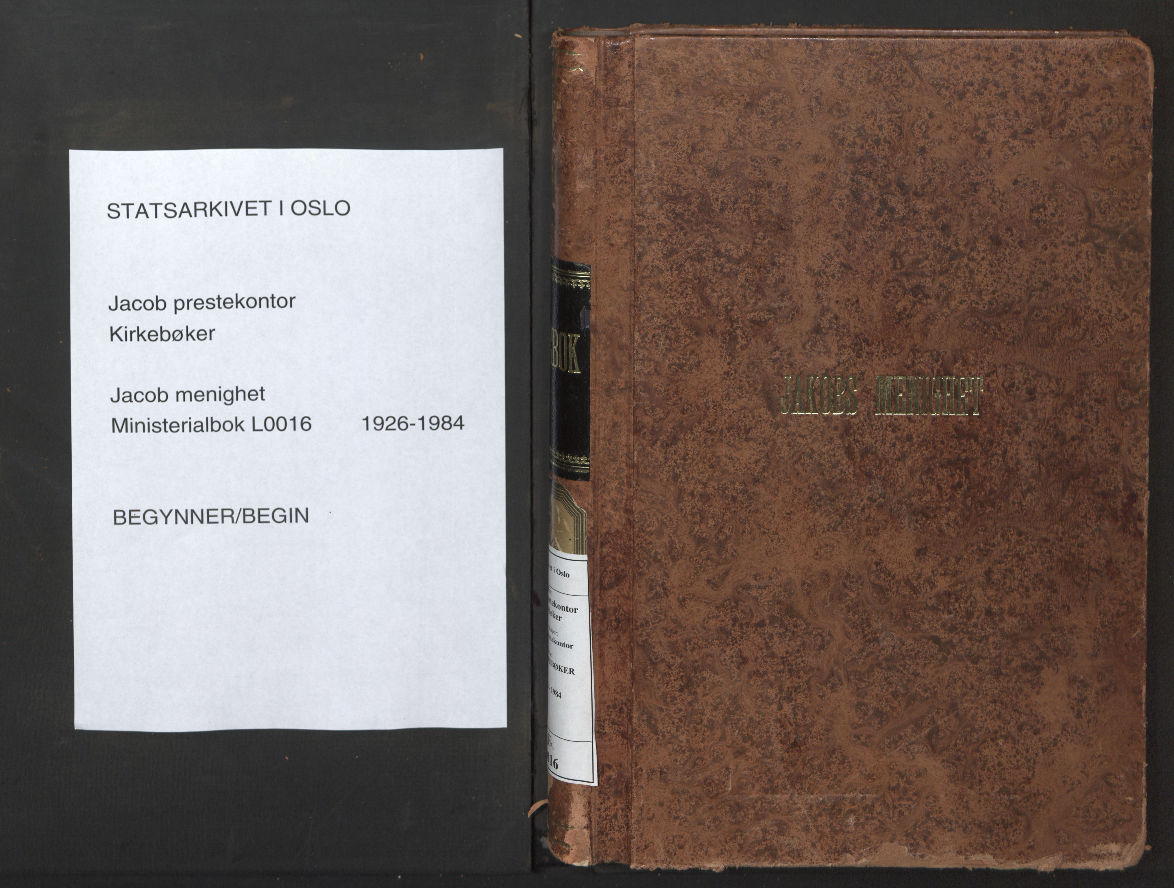 SAO, Jakob prestekontor Kirkebøker, F/Fa/L0016: Ministerialbok nr. 16, 1926-1984