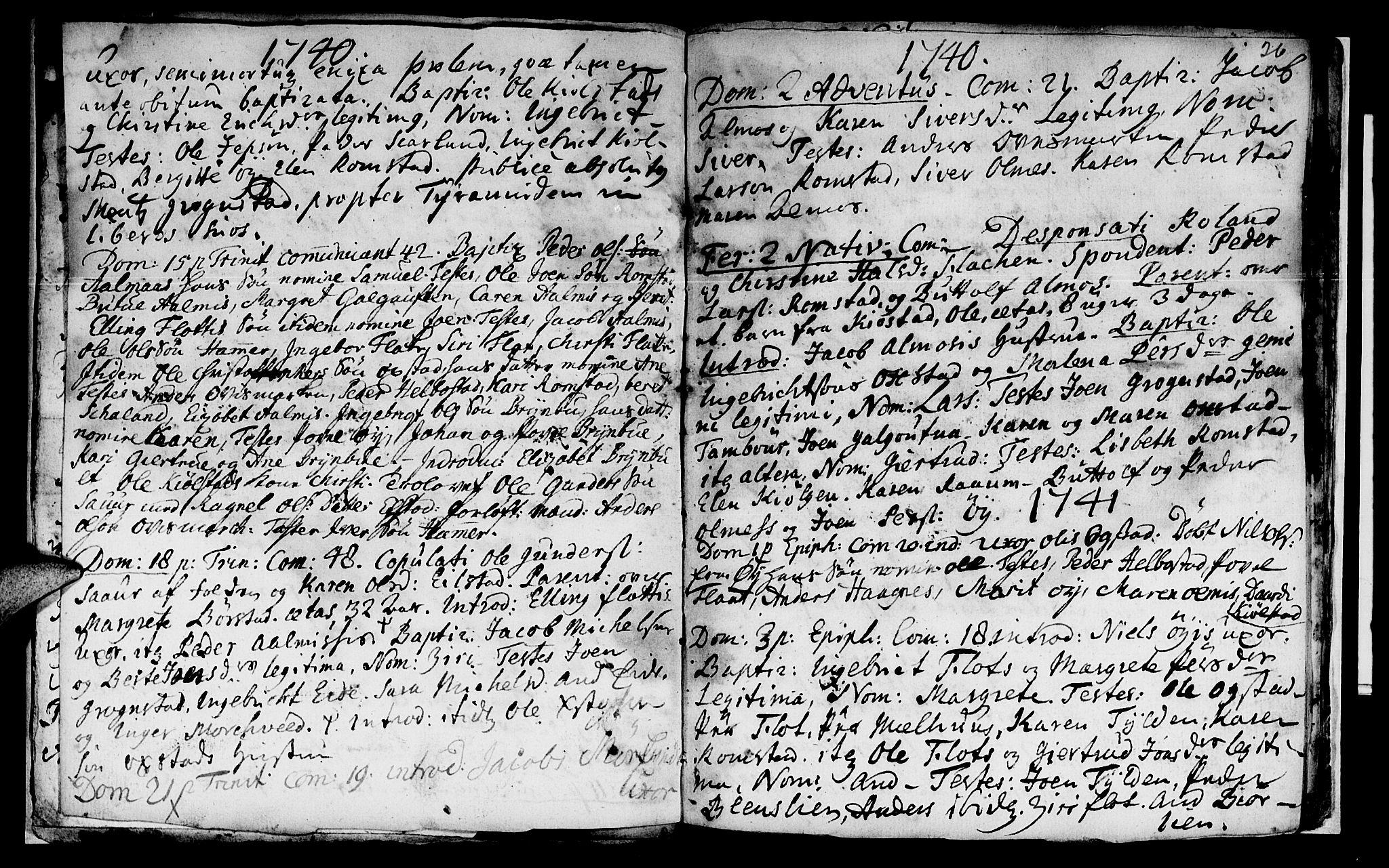 SAT, Ministerialprotokoller, klokkerbøker og fødselsregistre - Nord-Trøndelag, 765/L0560: Ministerialbok nr. 765A01, 1706-1748, s. 26