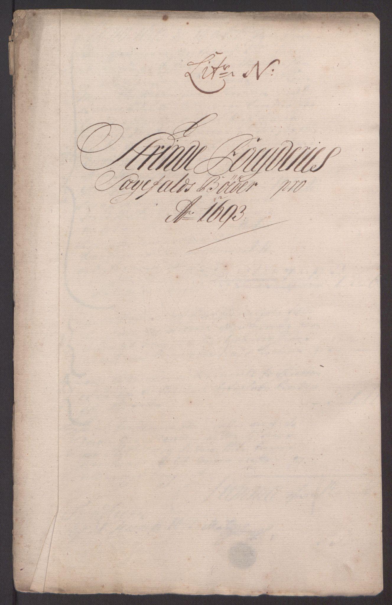 RA, Rentekammeret inntil 1814, Reviderte regnskaper, Fogderegnskap, R61/L4104: Fogderegnskap Strinda og Selbu, 1693-1694, s. 134