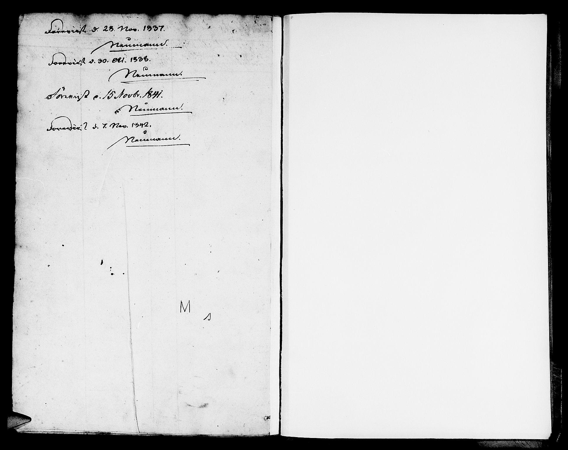 SAB, Domkirken Sokneprestembete, H/Hab/L0037: Klokkerbok nr. E 1, 1836-1848