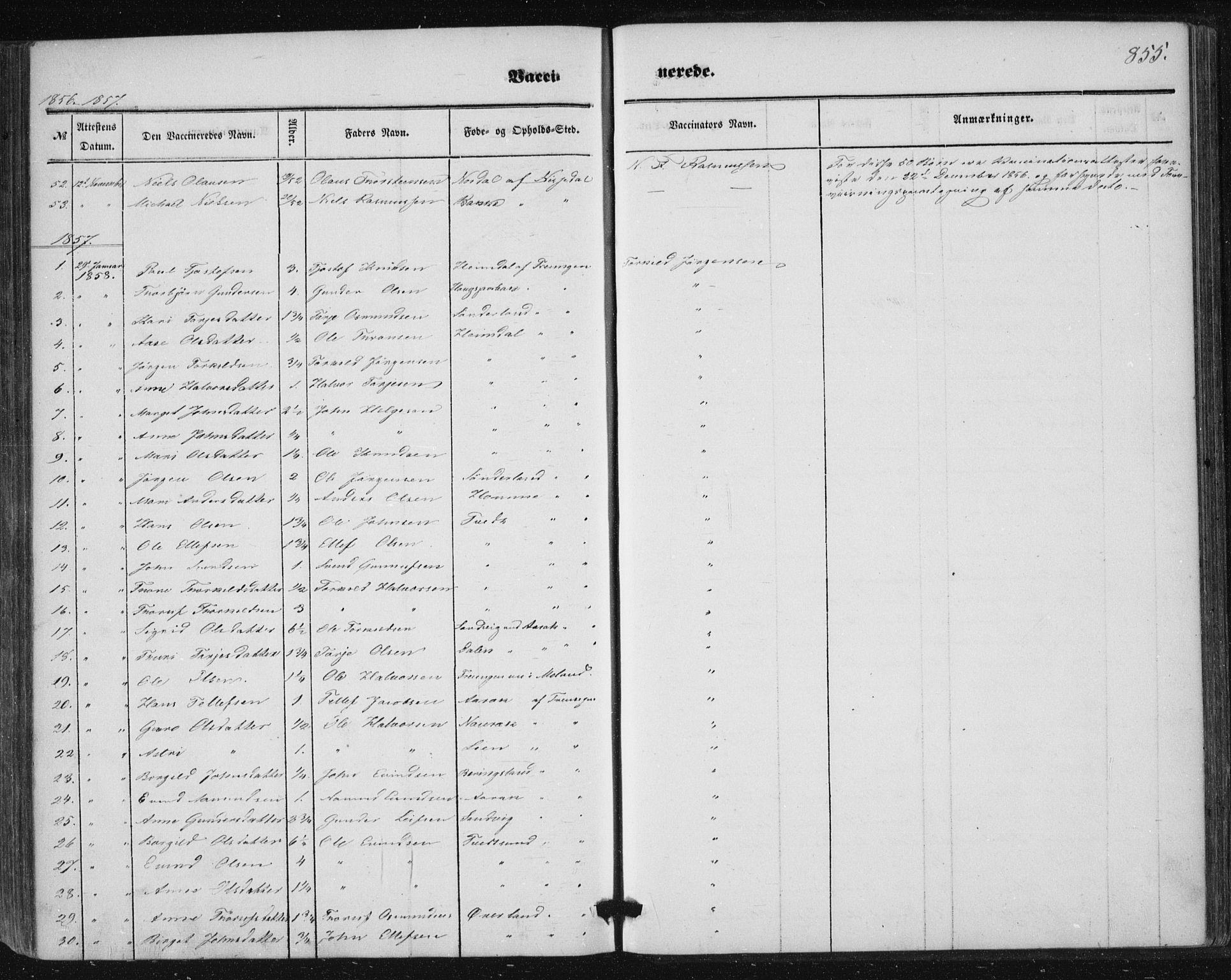 SAKO, Nissedal kirkebøker, F/Fa/L0003: Ministerialbok nr. I 3, 1846-1870, s. 854-855