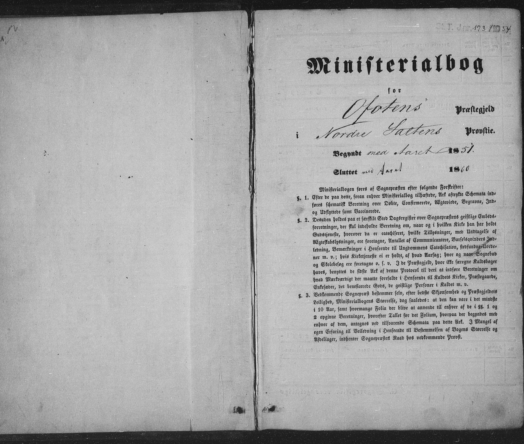 SAT, Ministerialprotokoller, klokkerbøker og fødselsregistre - Nordland, 863/L0895: Ministerialbok nr. 863A07, 1851-1860