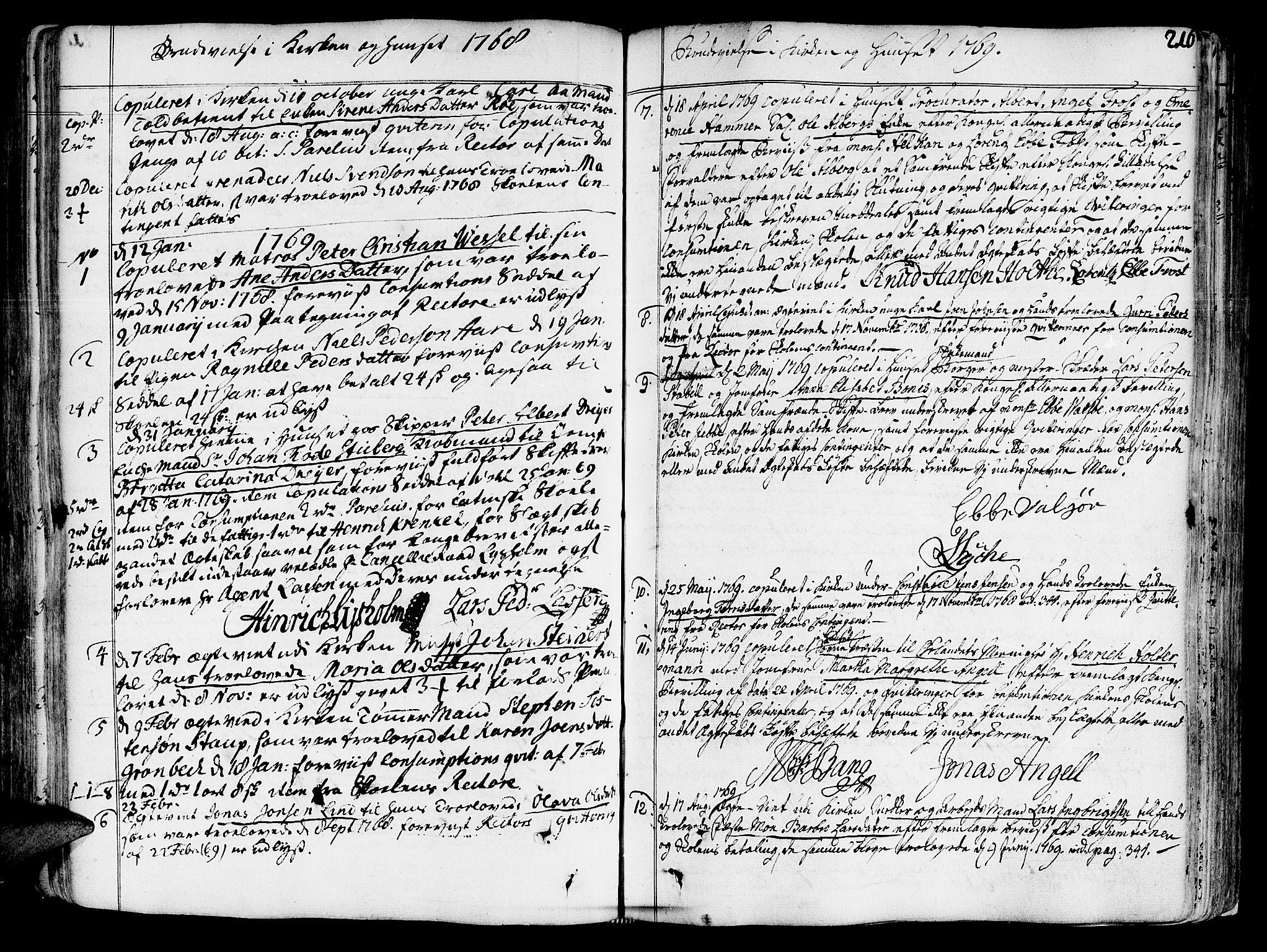 SAT, Ministerialprotokoller, klokkerbøker og fødselsregistre - Sør-Trøndelag, 602/L0103: Ministerialbok nr. 602A01, 1732-1774, s. 216