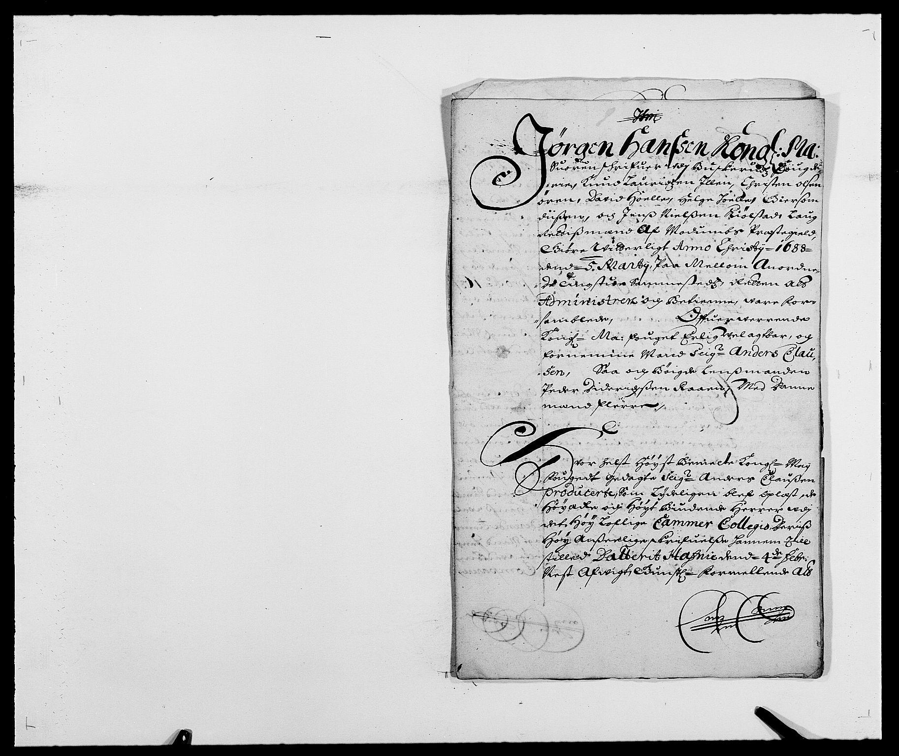 RA, Rentekammeret inntil 1814, Reviderte regnskaper, Fogderegnskap, R25/L1679: Fogderegnskap Buskerud, 1687-1688, s. 524