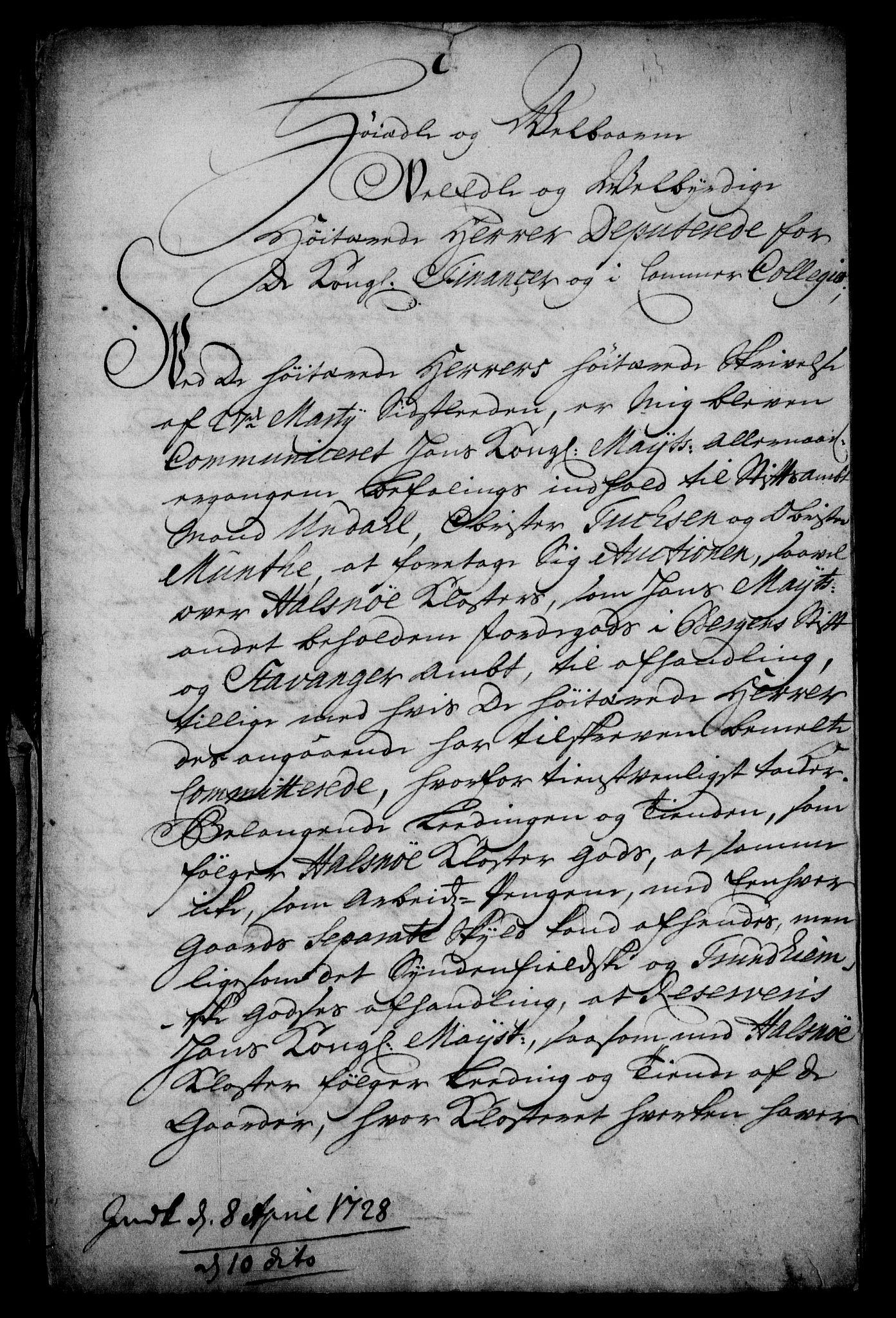 RA, Rentekammeret inntil 1814, Realistisk ordnet avdeling, On/L0005: [Jj 6]: Forskjellige dokumenter om Halsnøy klosters gods, 1697-1770, s. 521