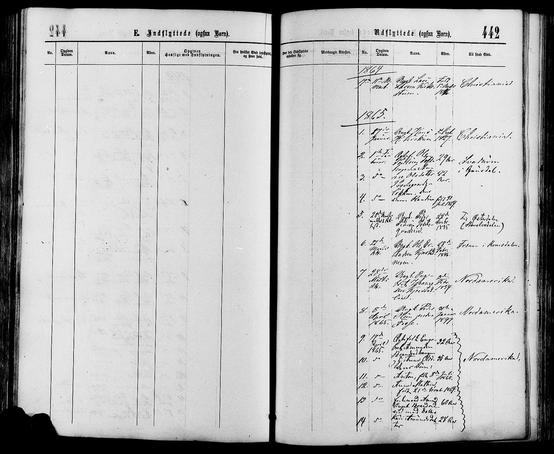 SAH, Sør-Fron prestekontor, H/Ha/Haa/L0002: Ministerialbok nr. 2, 1864-1880, s. 442