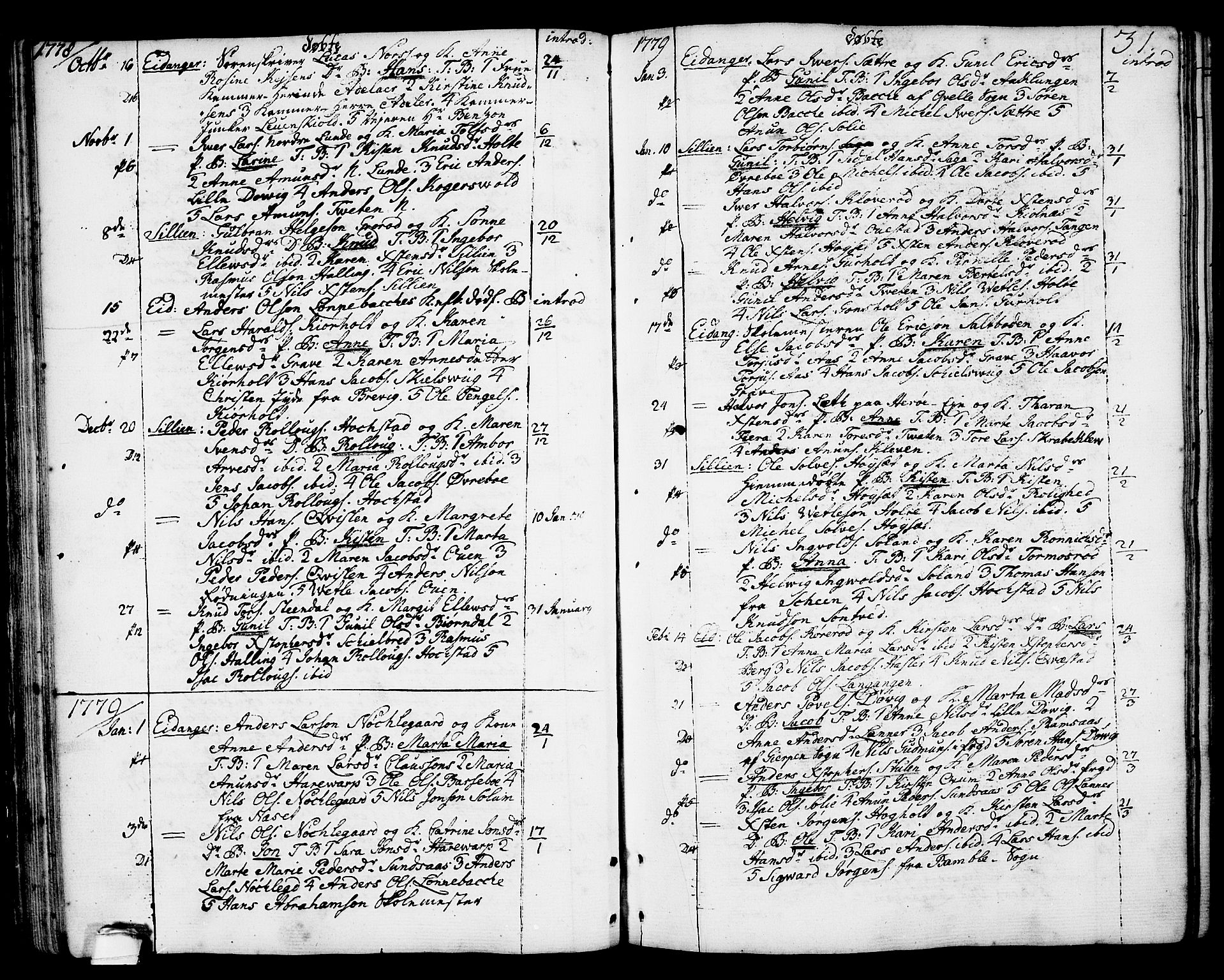SAKO, Eidanger kirkebøker, F/Fa/L0006: Ministerialbok nr. 6, 1764-1814, s. 31