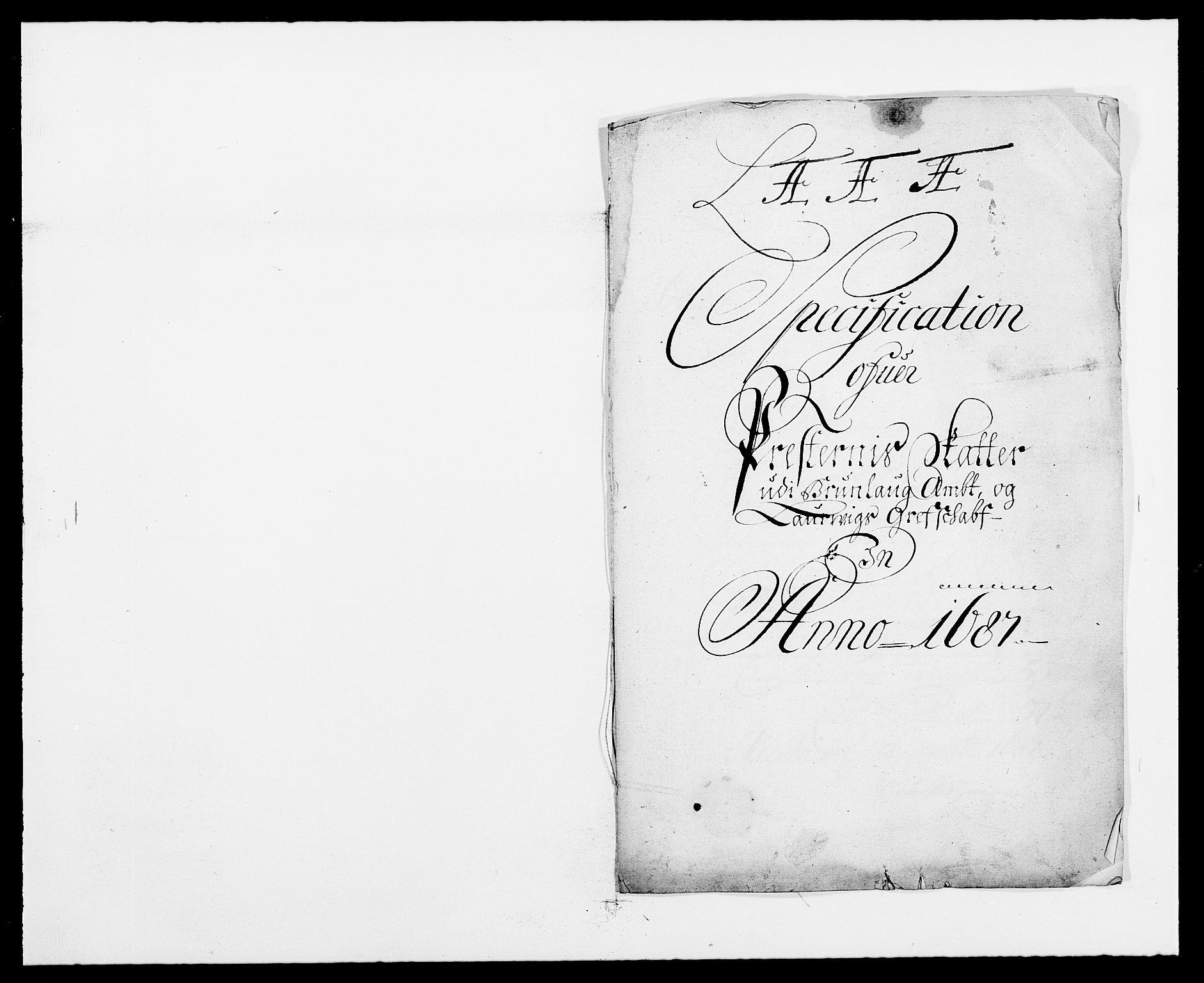 RA, Rentekammeret inntil 1814, Reviderte regnskaper, Fogderegnskap, R33/L1970: Fogderegnskap Larvik grevskap, 1675-1687, s. 380