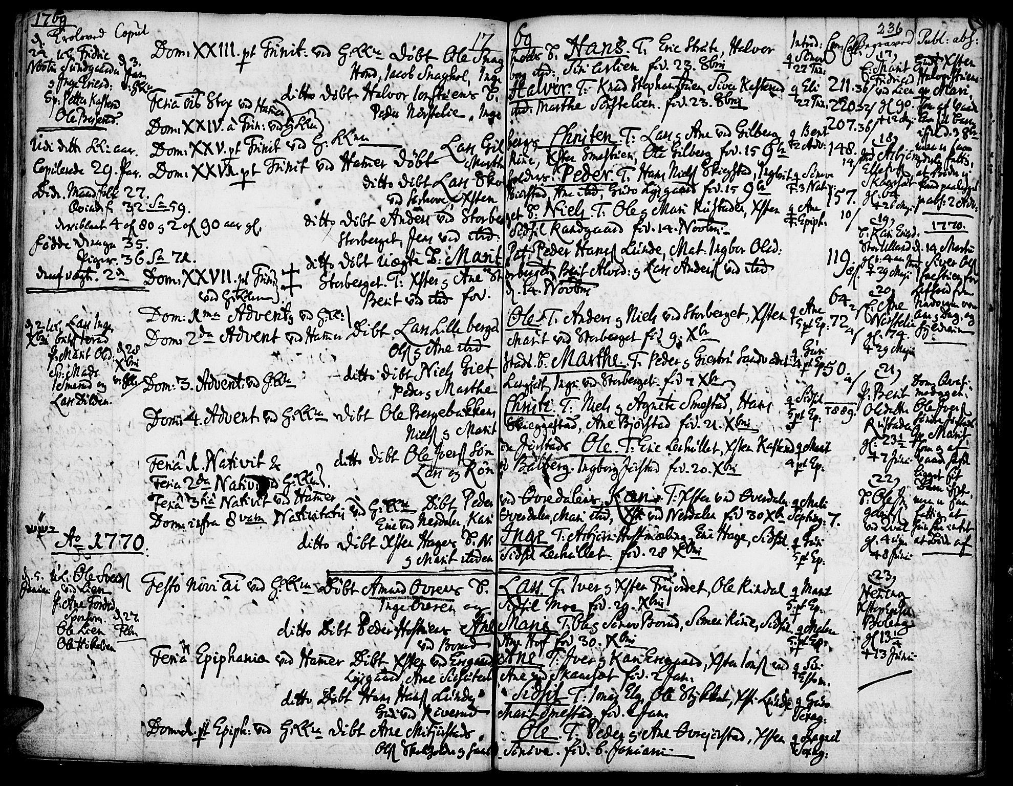 SAH, Fåberg prestekontor, Ministerialbok nr. 1, 1727-1775, s. 236