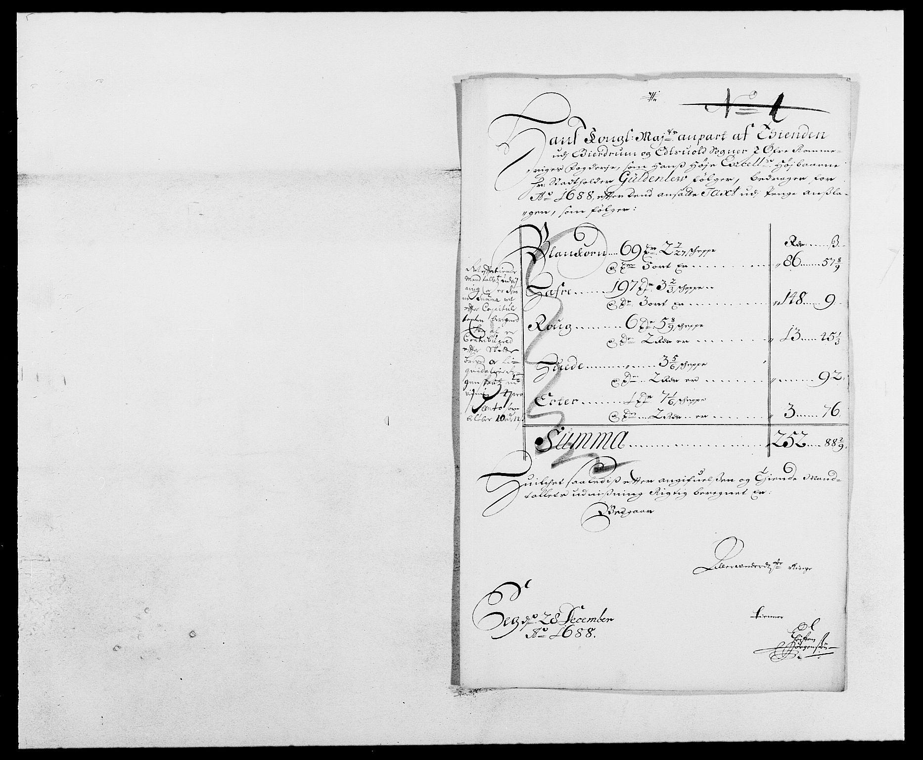 RA, Rentekammeret inntil 1814, Reviderte regnskaper, Fogderegnskap, R12/L0700: Fogderegnskap Øvre Romerike, 1687-1688, s. 437