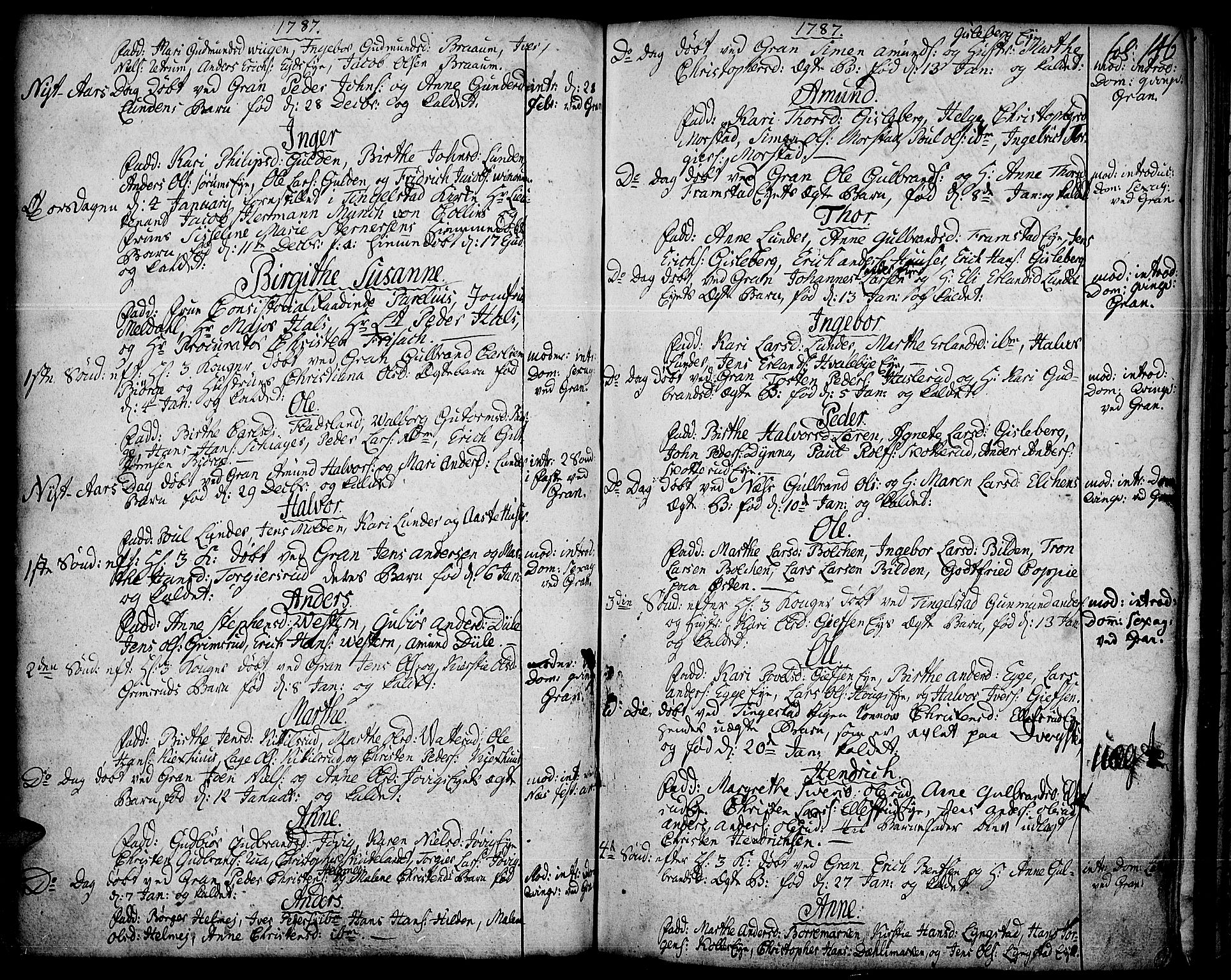SAH, Gran prestekontor, Ministerialbok nr. 5, 1776-1788, s. 146