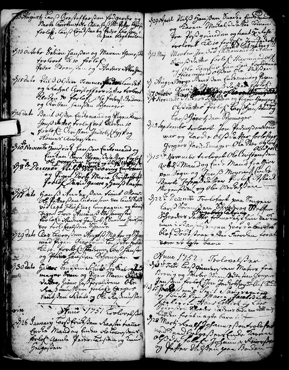 SAKO, Skien kirkebøker, F/Fa/L0002: Ministerialbok nr. 2, 1716-1757, s. 19