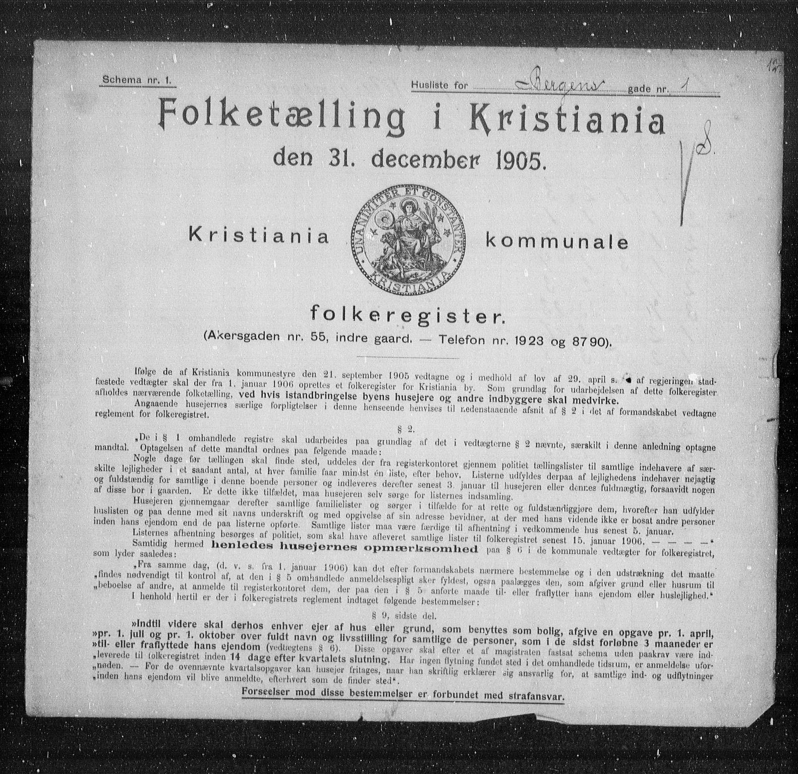 OBA, Kommunal folketelling 1905 for Kristiania kjøpstad, 1905, s. 1895