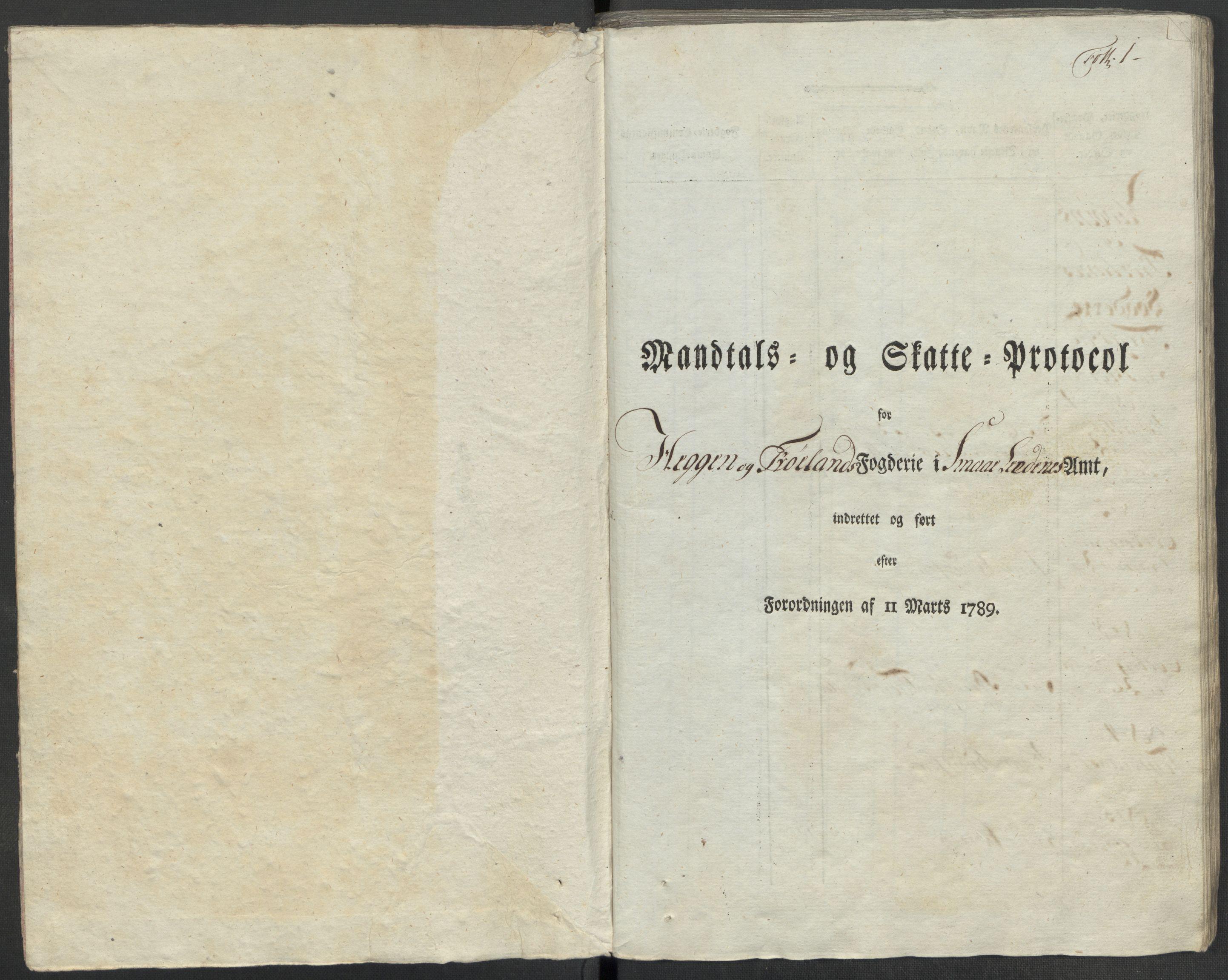 RA, Rentekammeret inntil 1814, Reviderte regnskaper, Mindre regnskaper, Rf/Rfe/L0036: Rakkestad, Heggen og Frøland fogderi, Ringerike og Hallingdal fogderi, 1789, s. 4