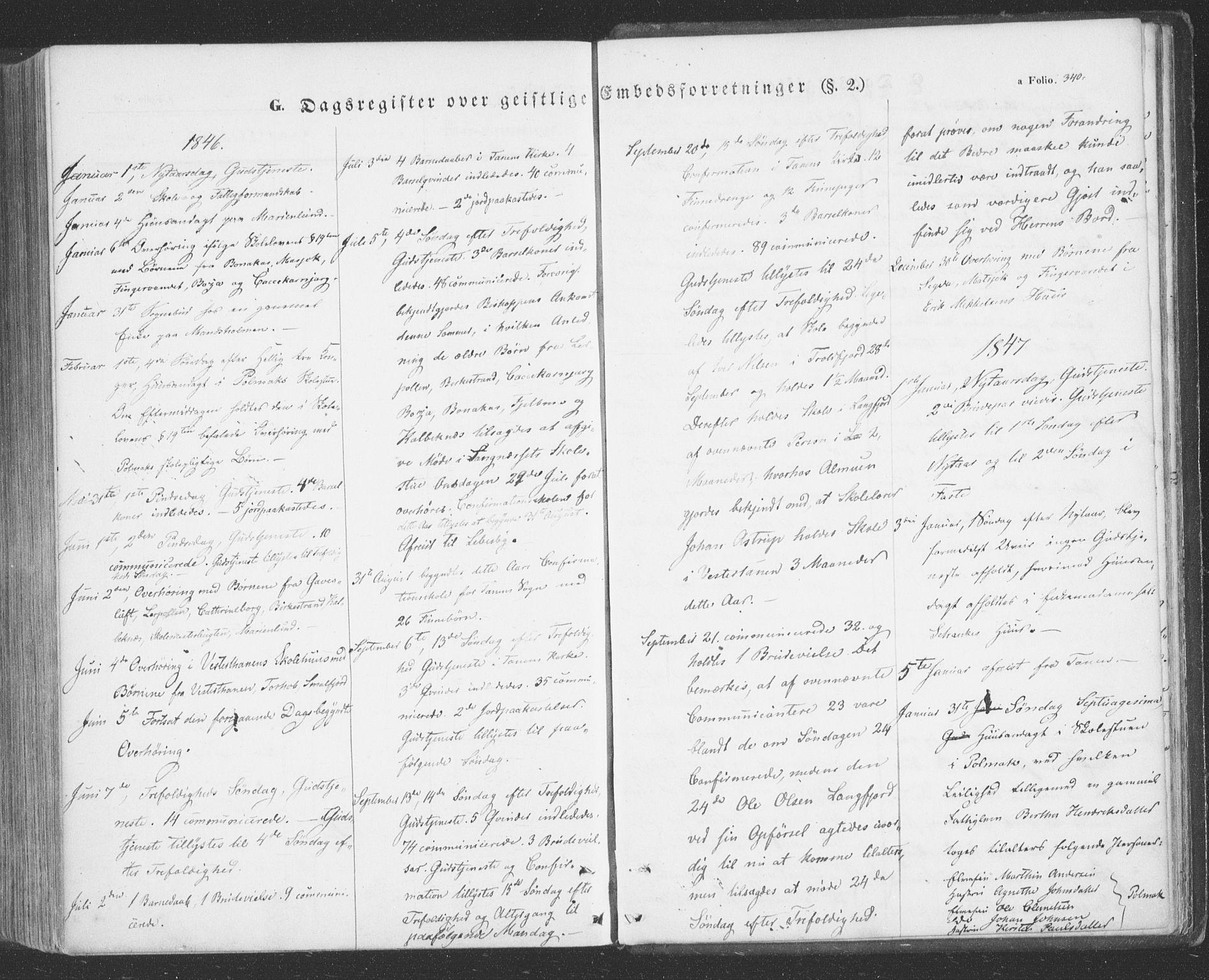 SATØ, Tana sokneprestkontor, H/Ha/L0001kirke: Ministerialbok nr. 1, 1846-1861, s. 340
