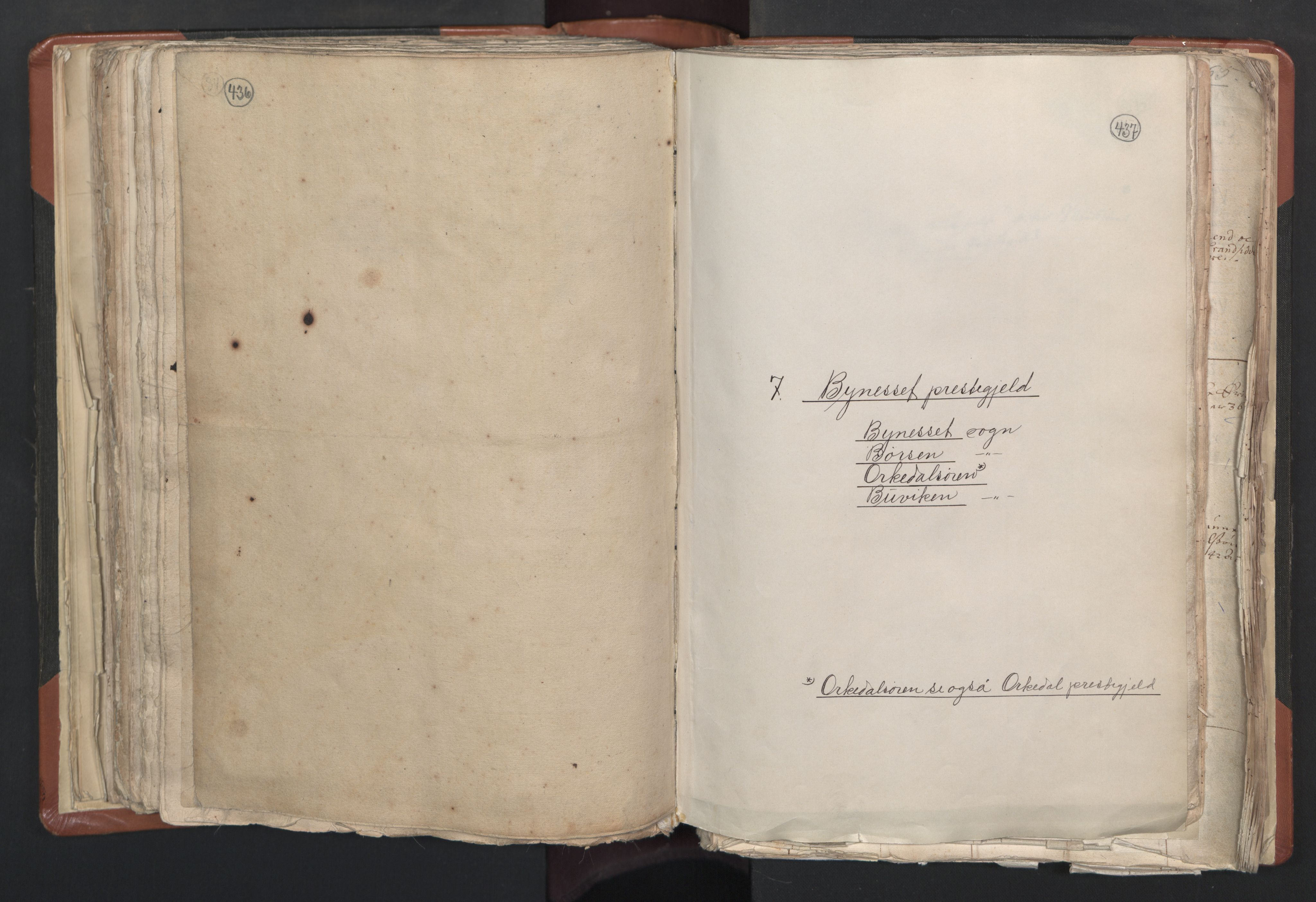 RA, Sogneprestenes manntall 1664-1666, nr. 31: Dalane prosti, 1664-1666, s. 436-437