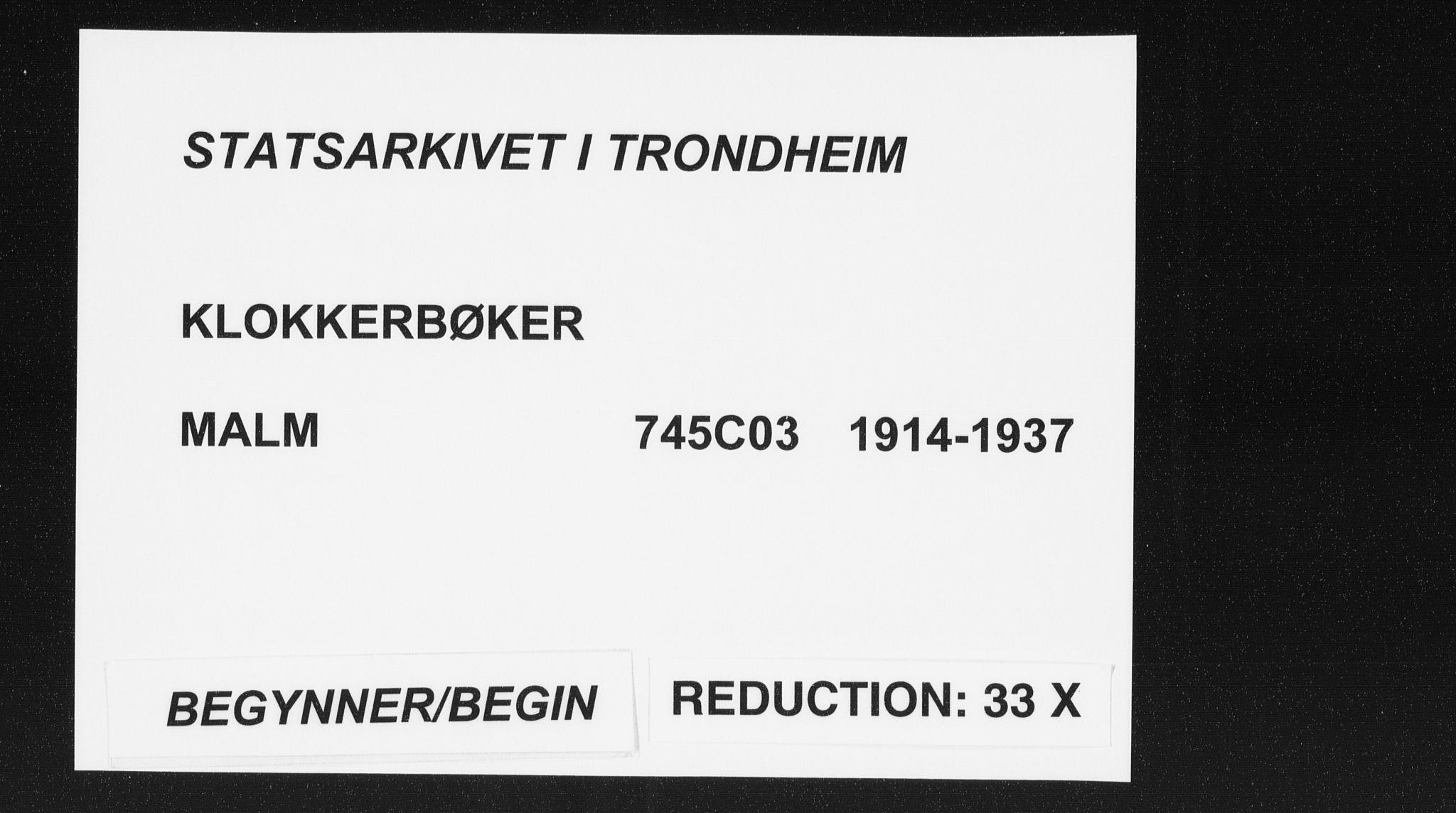 SAT, Ministerialprotokoller, klokkerbøker og fødselsregistre - Nord-Trøndelag, 745/L0434: Klokkerbok nr. 745C03, 1914-1937